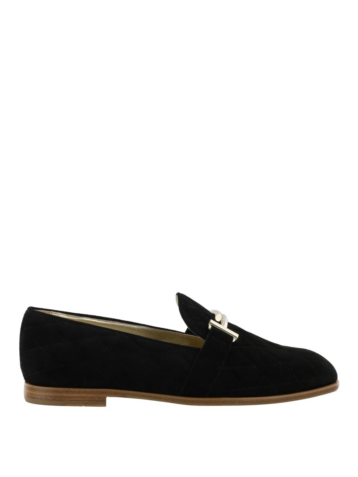 9f228cbd59e Tod S - Black Double T quilted loafers - Loafers   Slippers ...