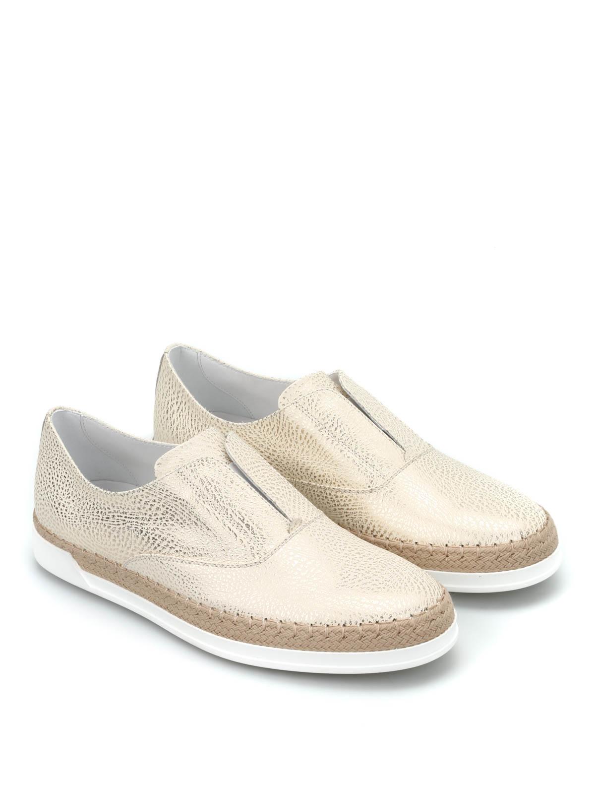 mokassins slippers fur damen gold von tod 39 s mokassins und slippers ikrix. Black Bedroom Furniture Sets. Home Design Ideas