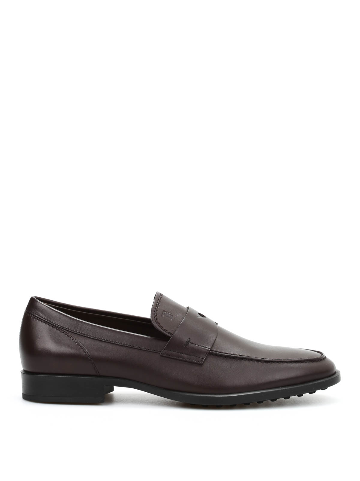 Tod's Men's Smooth Leather Penny Loafers In Brown