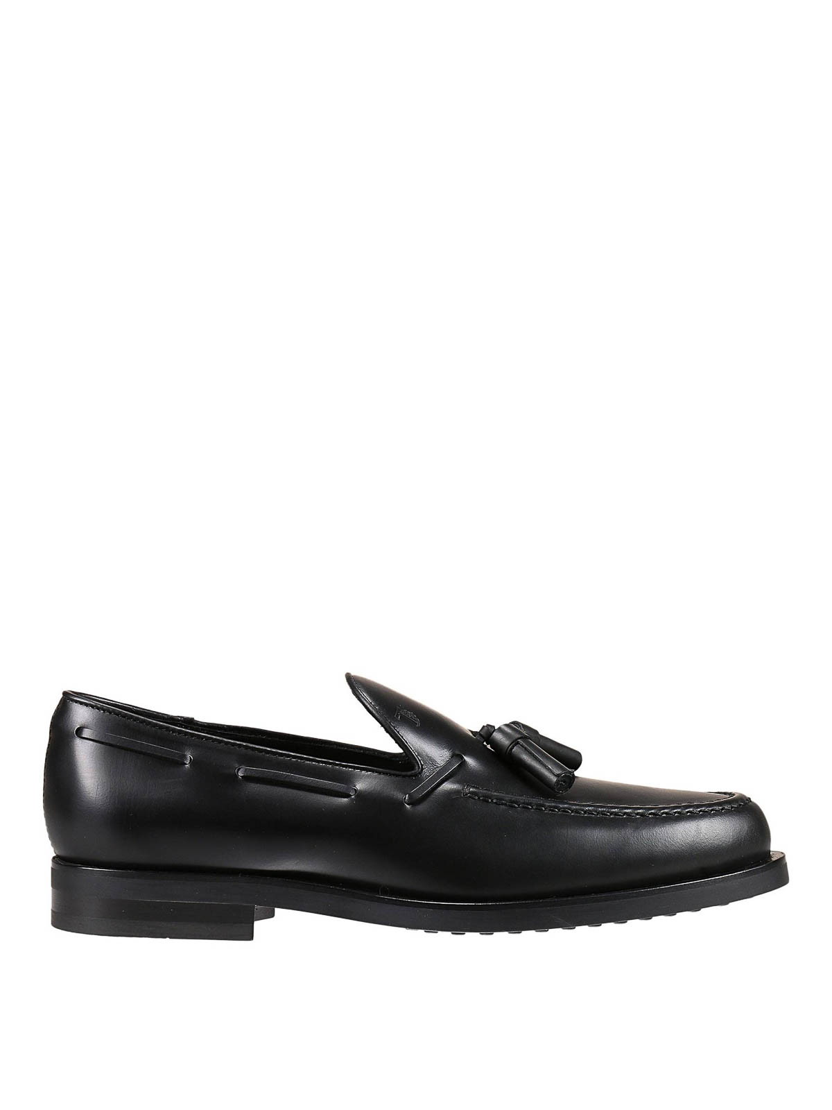 Tod's LEATHER LOAFERS WITH TASSELS