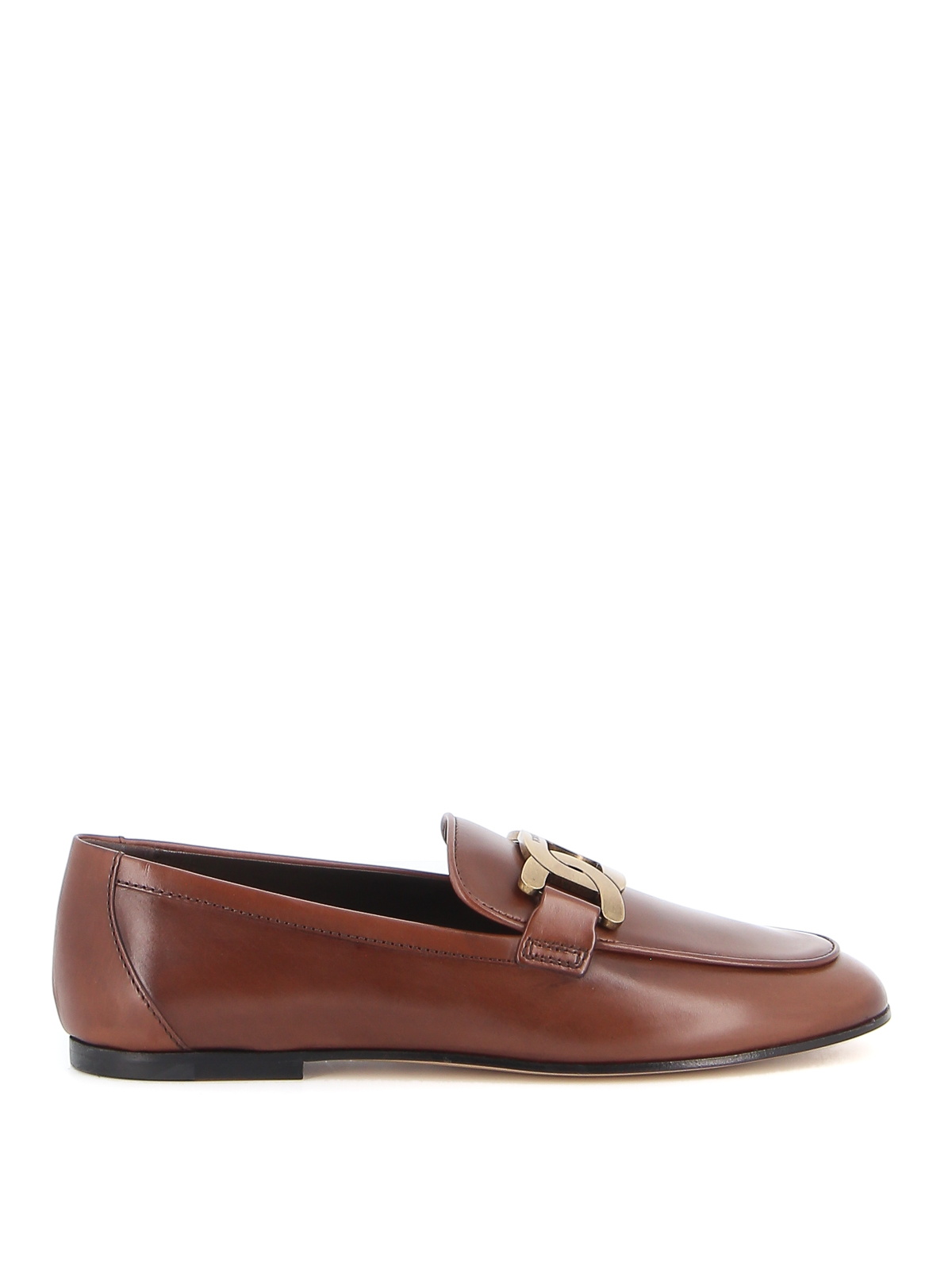 TOD'S SMOOTH LEATHER LOAFERS