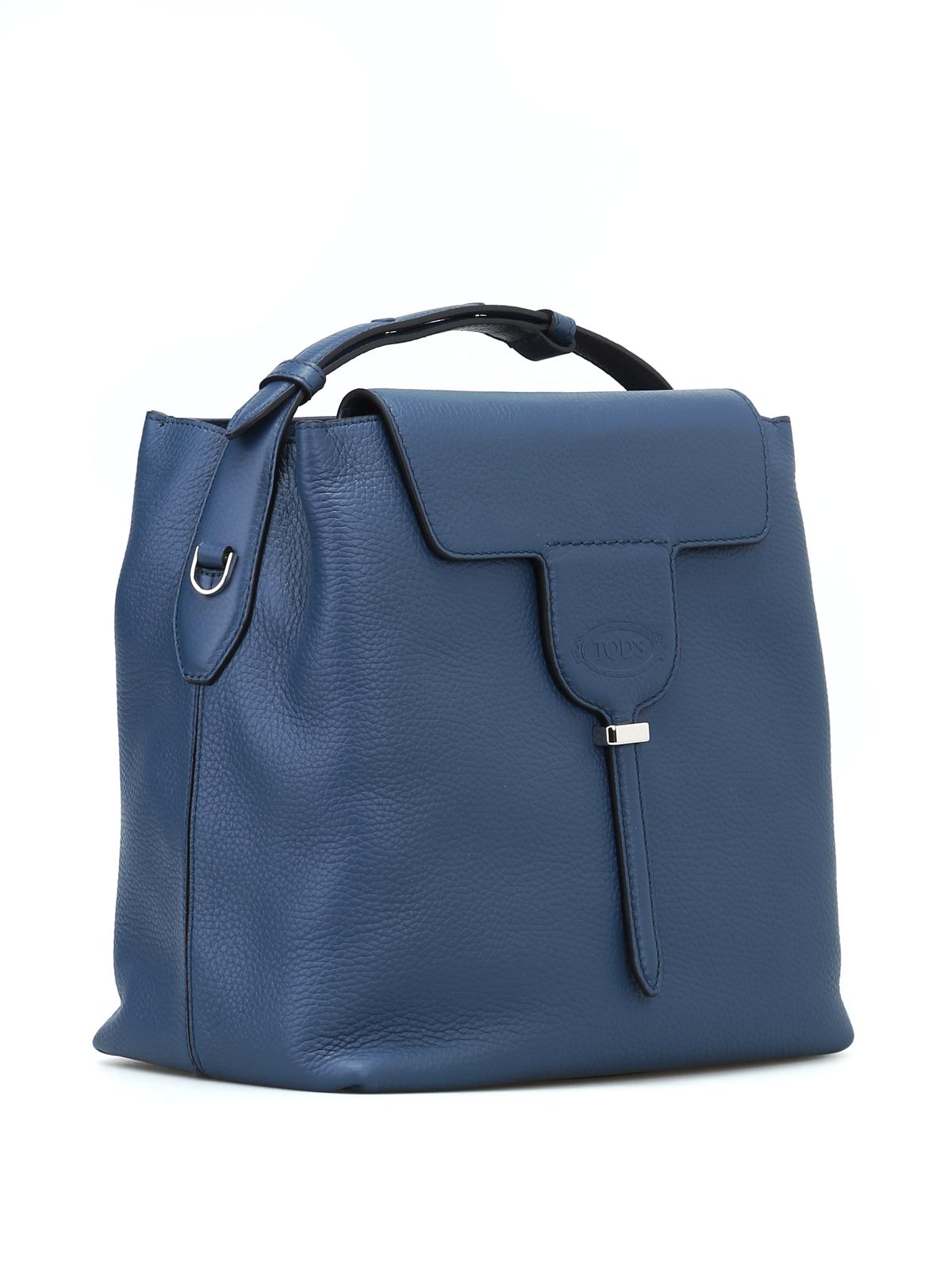 aef4e42d9 Tod'S - Joy small ocean blue grain leather bag - Bucket bags ...