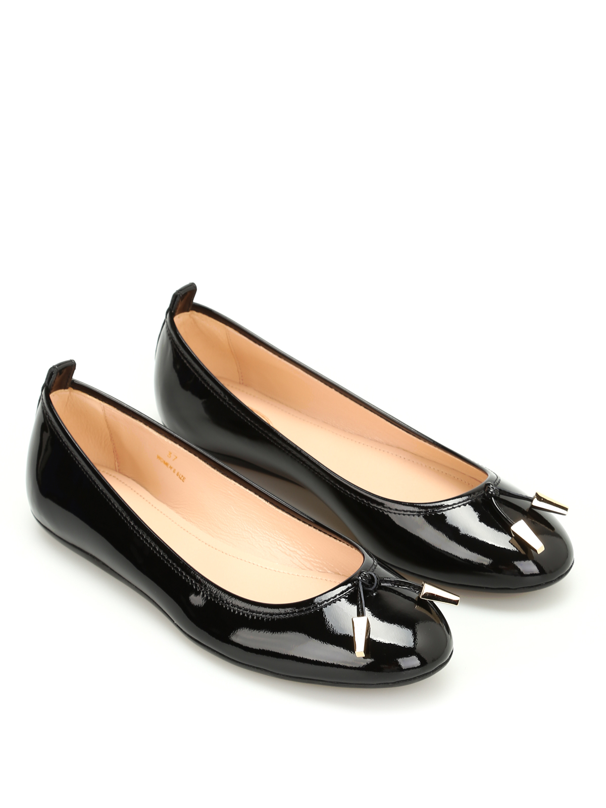 1401c242876 Studded patent leather ballerinas shop online  TOD. TOD. TOD. TOD