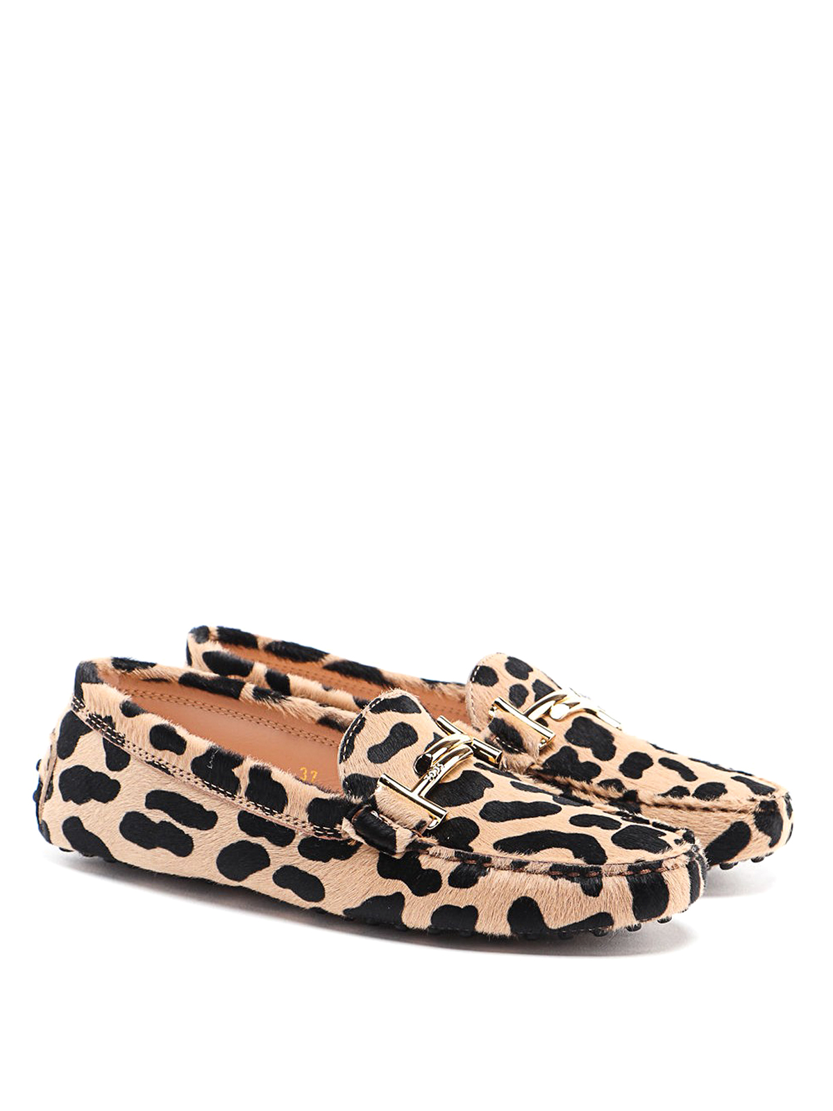 tod's leopard print loafers