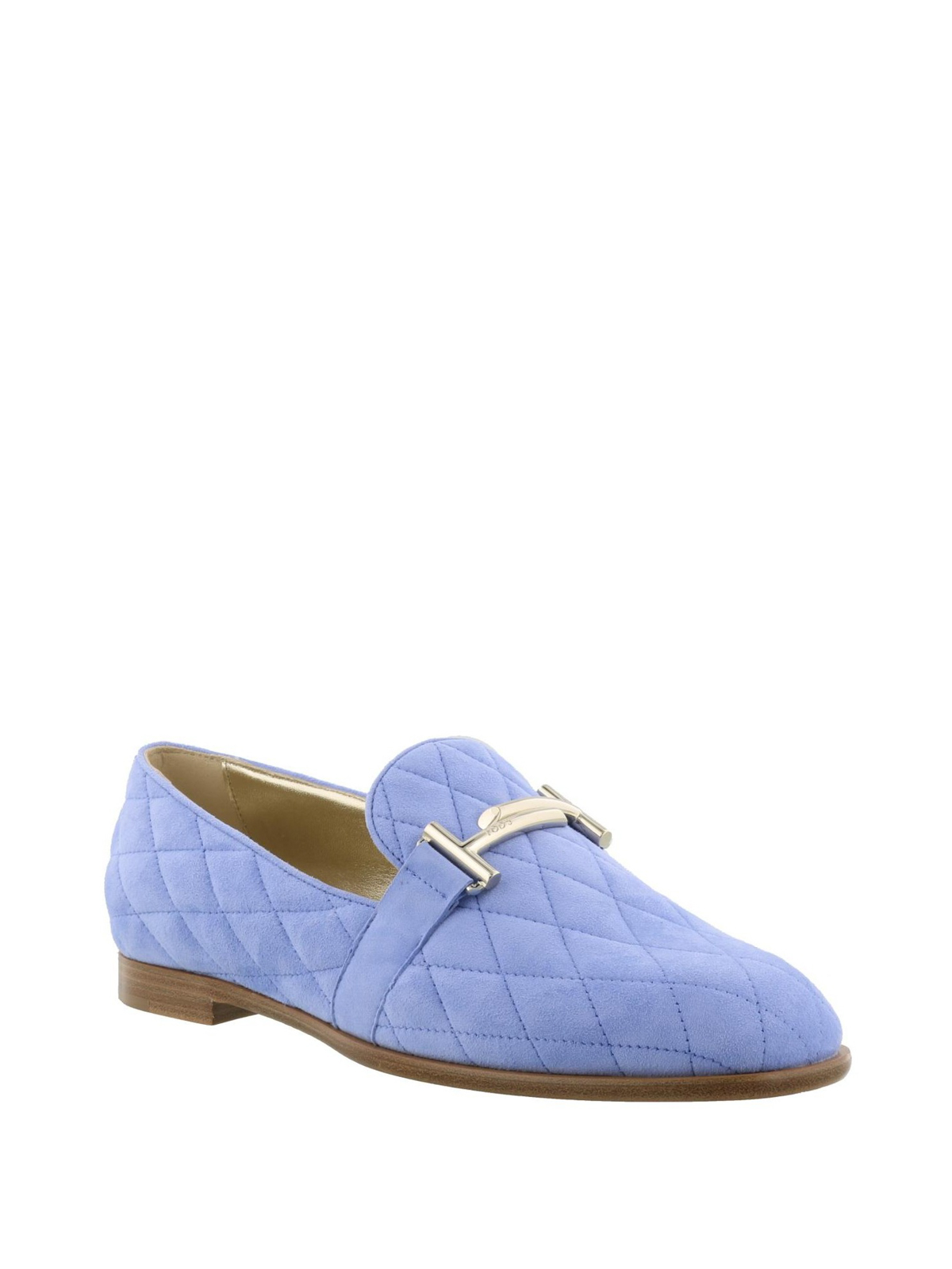online for sale new high quality outlet store Tod'S - Double T sky blue quilted loafers - Loafers & Slippers ...