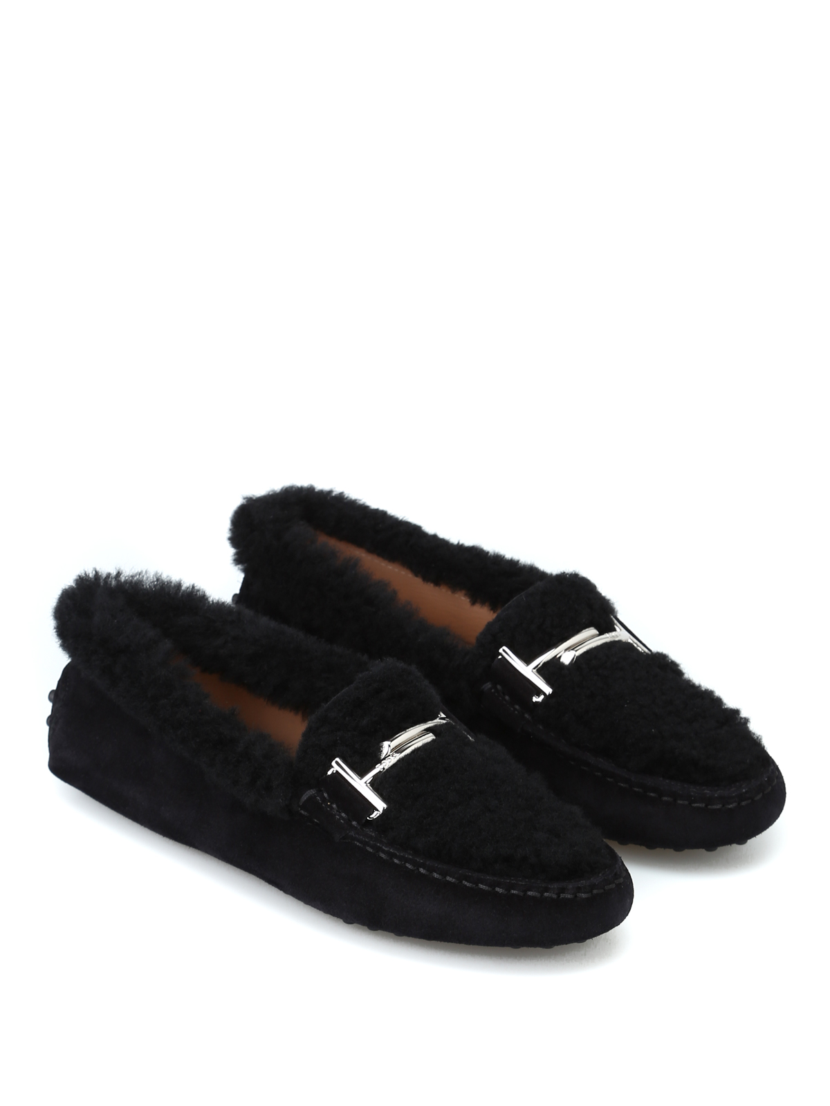 d82d0ab05d3 Double T suede and shearling loafers shop online  TOD · TOD · TOD · TOD
