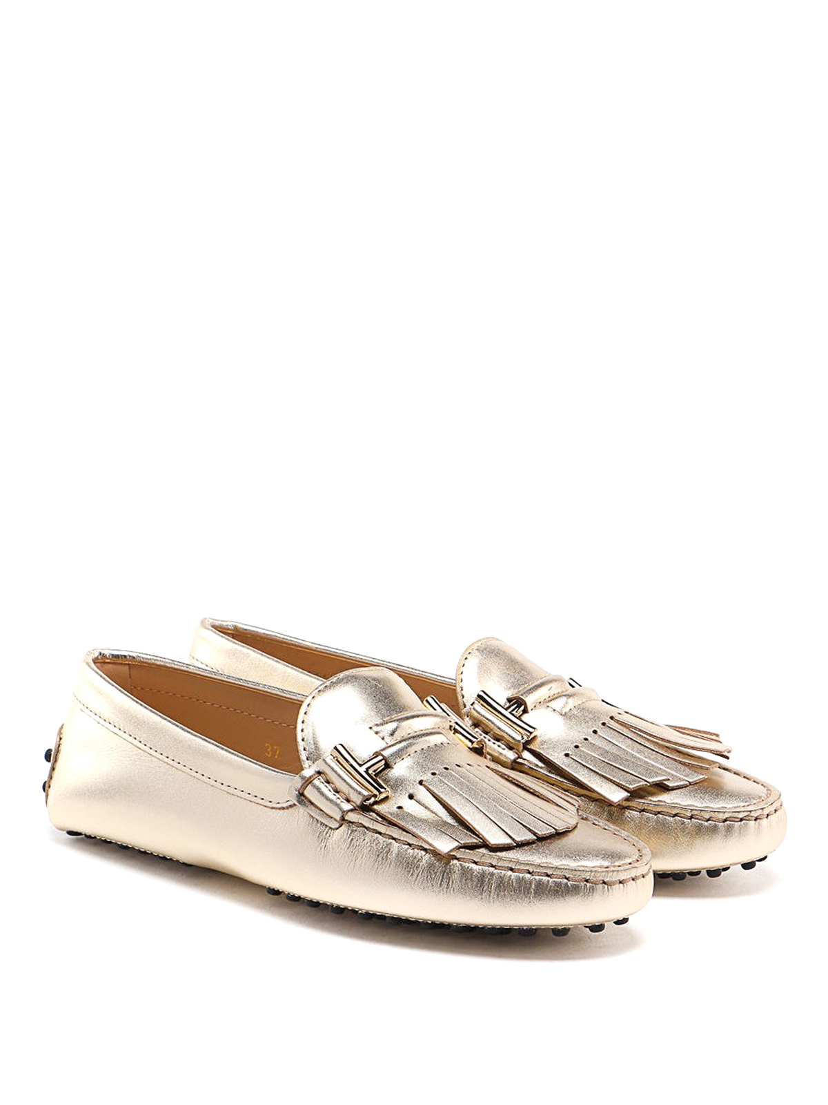 Tod'S - Gold fringed loafers - Loafers