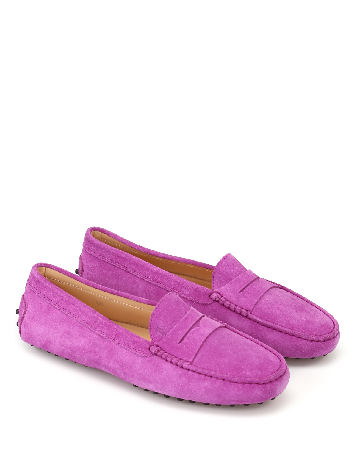 3d9178ea165 Tod S - Gommino violet suede driving shoes - Loafers   Slippers ...