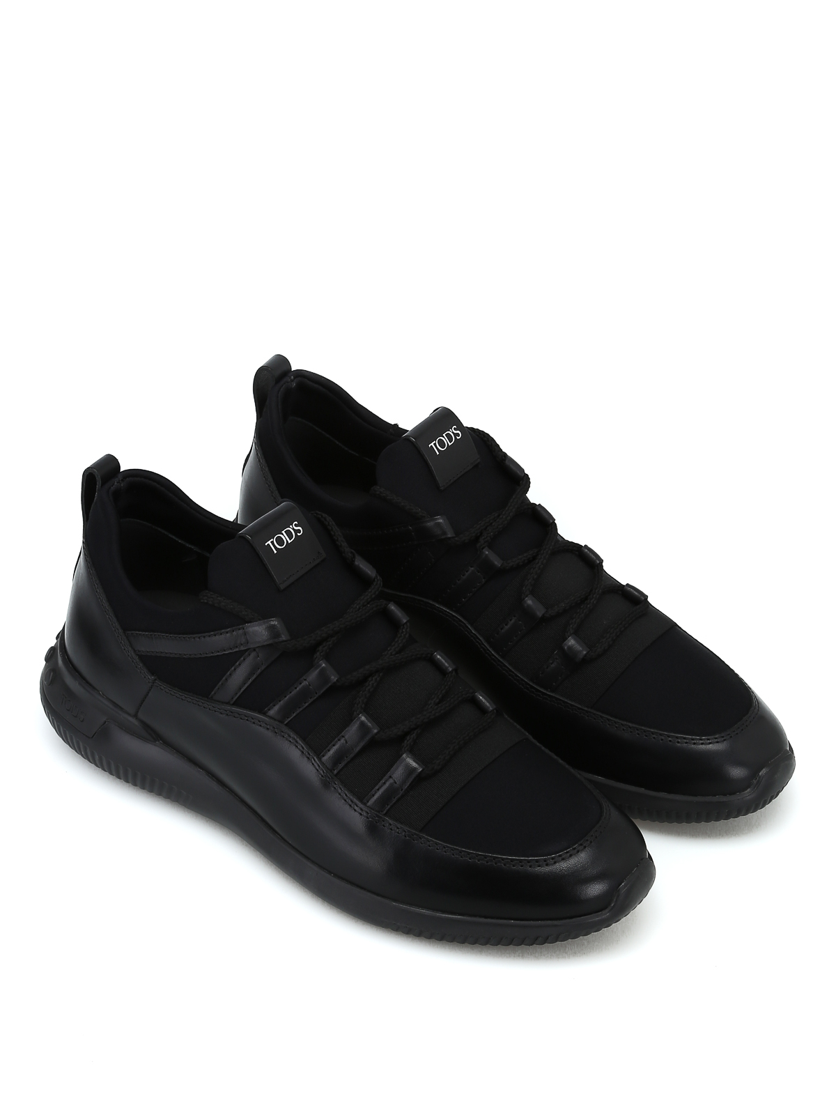 f14dceb51f6247 No-Code leather and scuba effect sneakers shop online  TOD · TOD · TOD · TOD