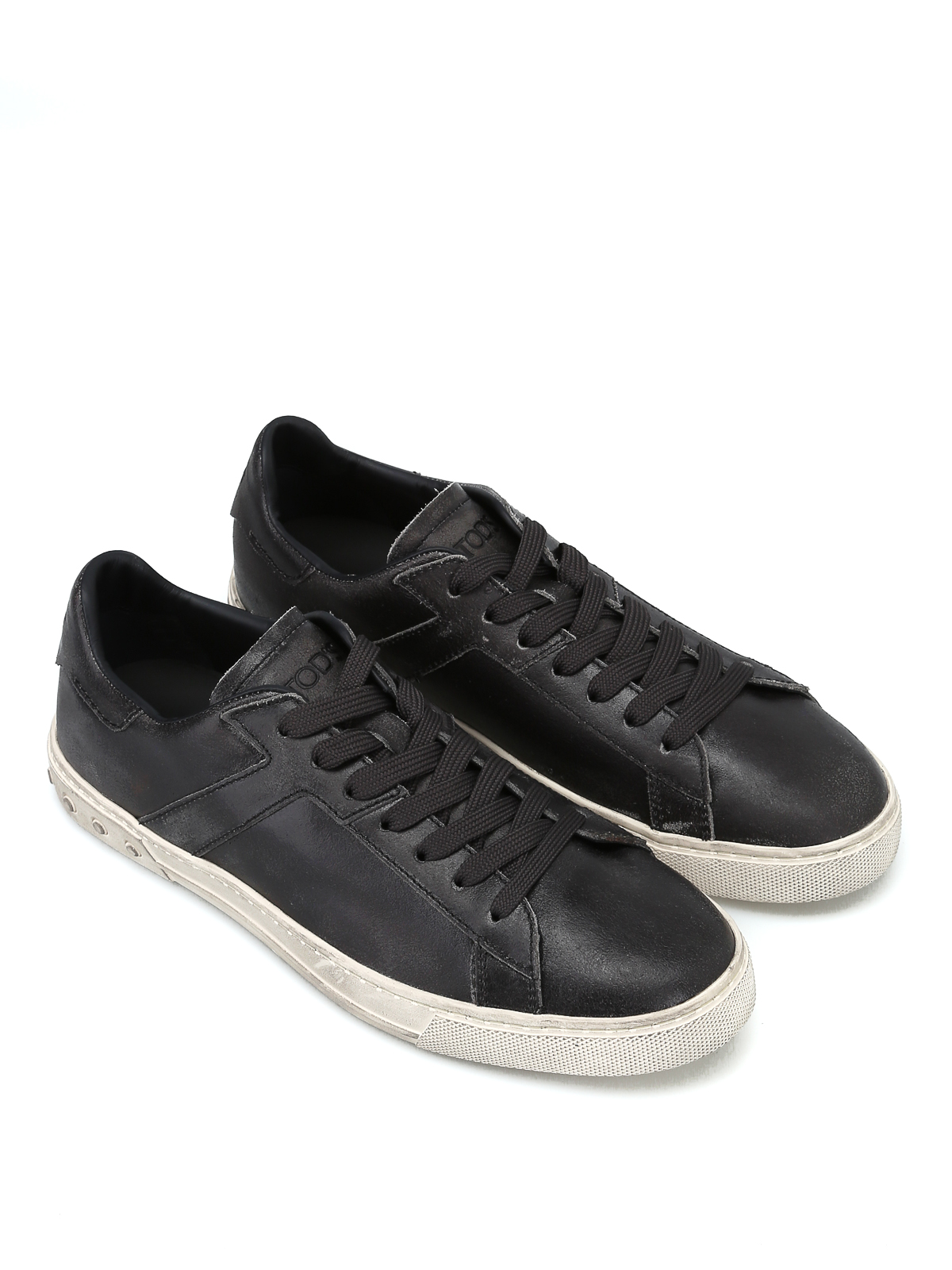 Tod's Vintage In Sneakers Pelle Basse Usato Effetto Sneaker SUGpqLVzM