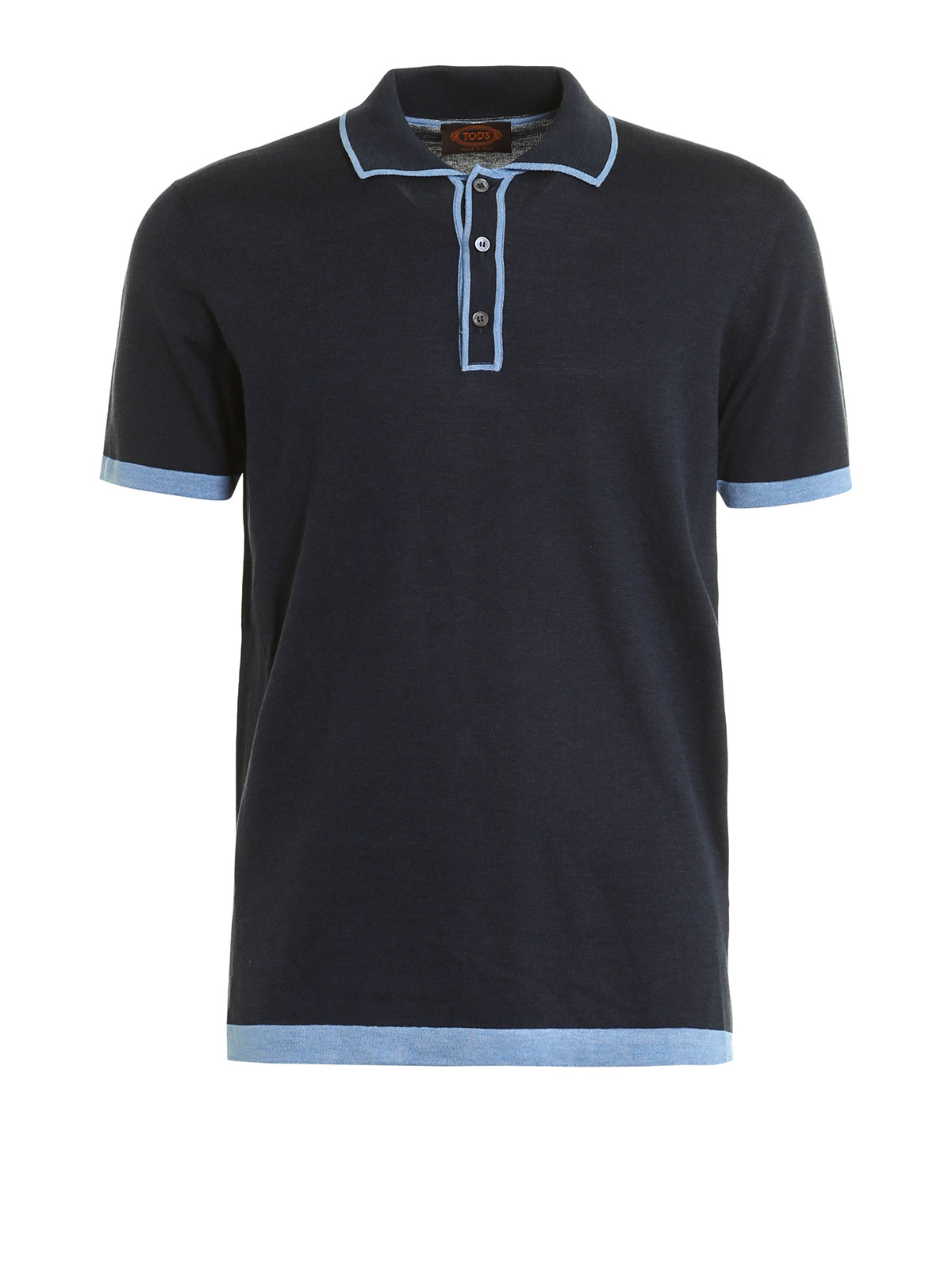 Silk And Cotton Polo Shirt By Tod 39 S Polo Shirts Ikrix