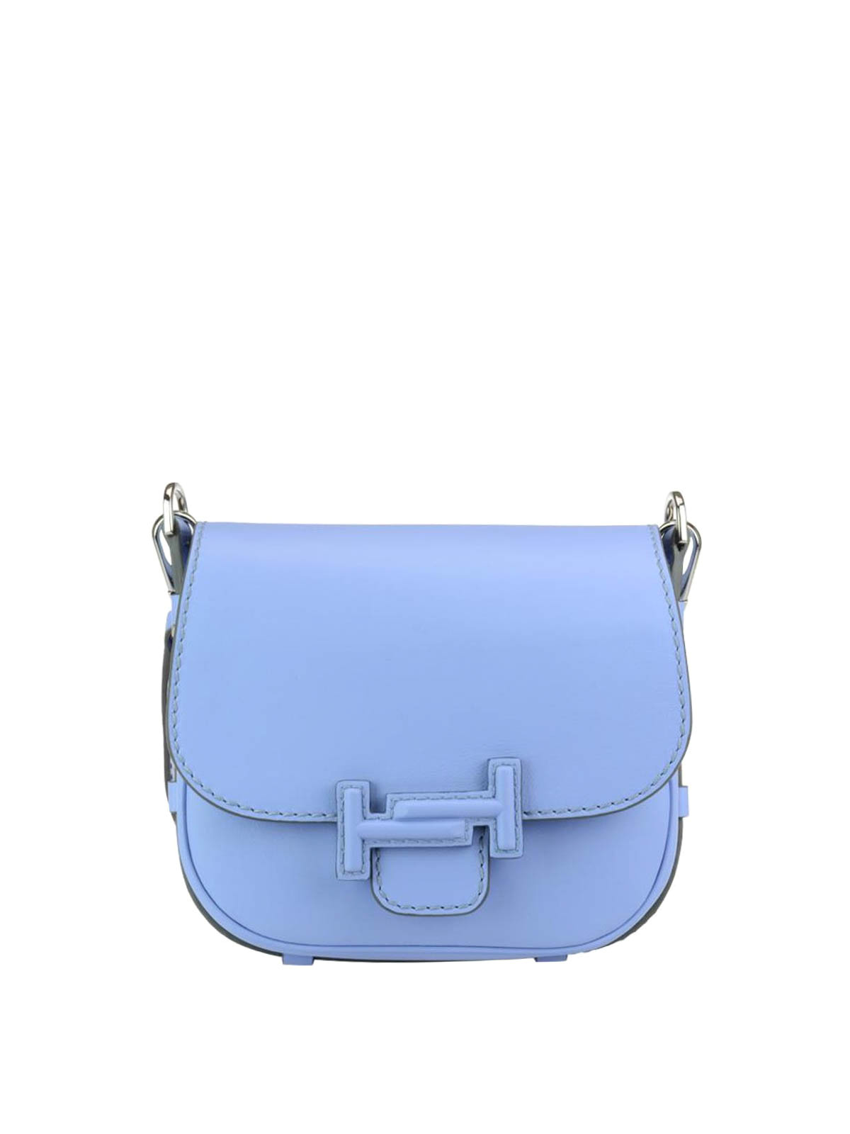 double t light blue saddle bag by tod 39 s shoulder bags. Black Bedroom Furniture Sets. Home Design Ideas