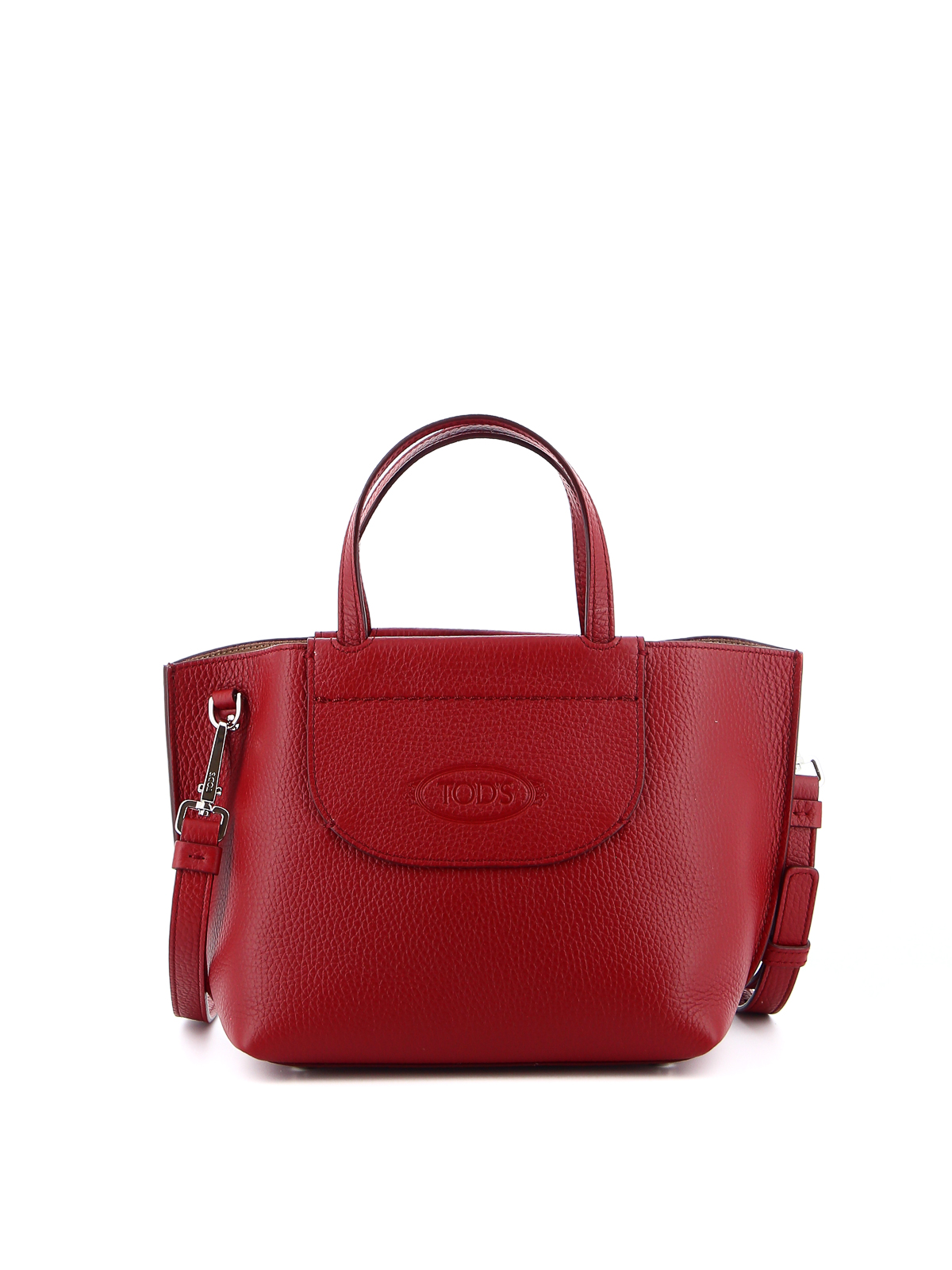 Tod's EMBOSSED LOGO HAMMERED LEATHER MINI BAG