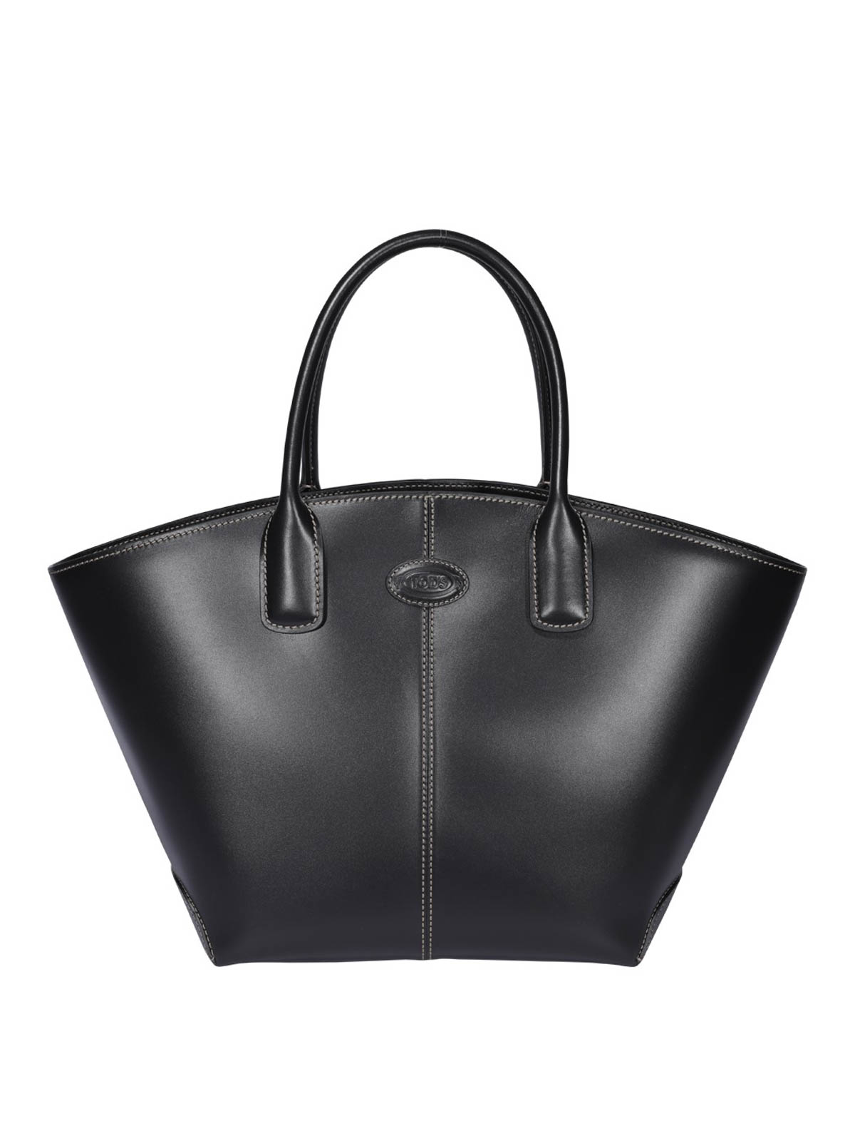 Tod's Leathers LEATHER TRAPEZOIDAL BAG