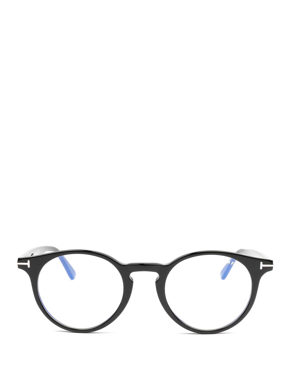 560daf2ce Tom Ford - Black round glasses - glasses - FT5557B001   iKRIX.com