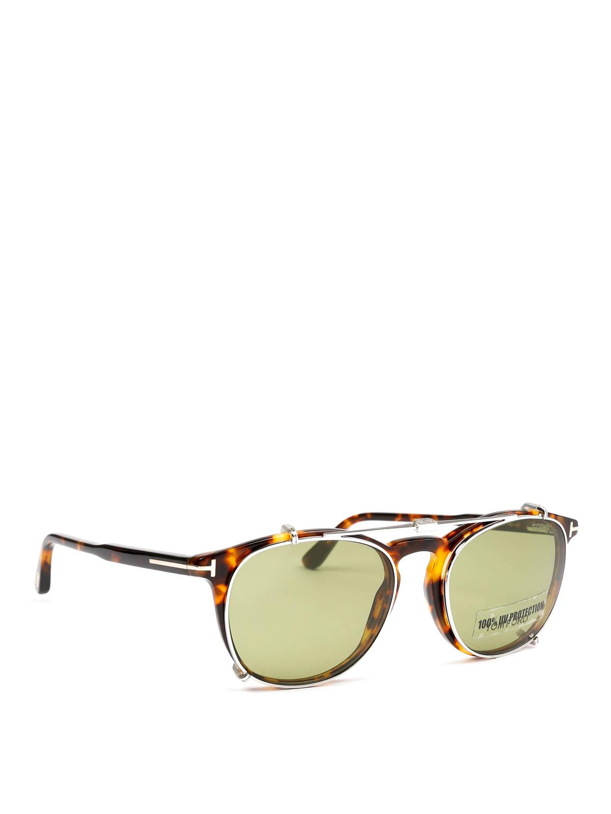 9c69b8c6b4 TOM FORD  sunglasses online - Clip On sunglasses with green lenses