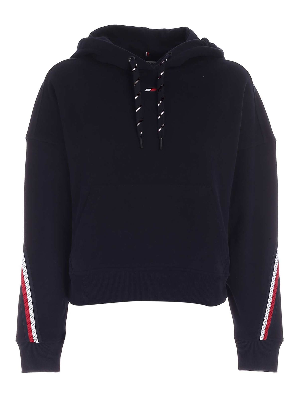 Tommy Hilfiger SPORT TH HOODIE IN BLUE
