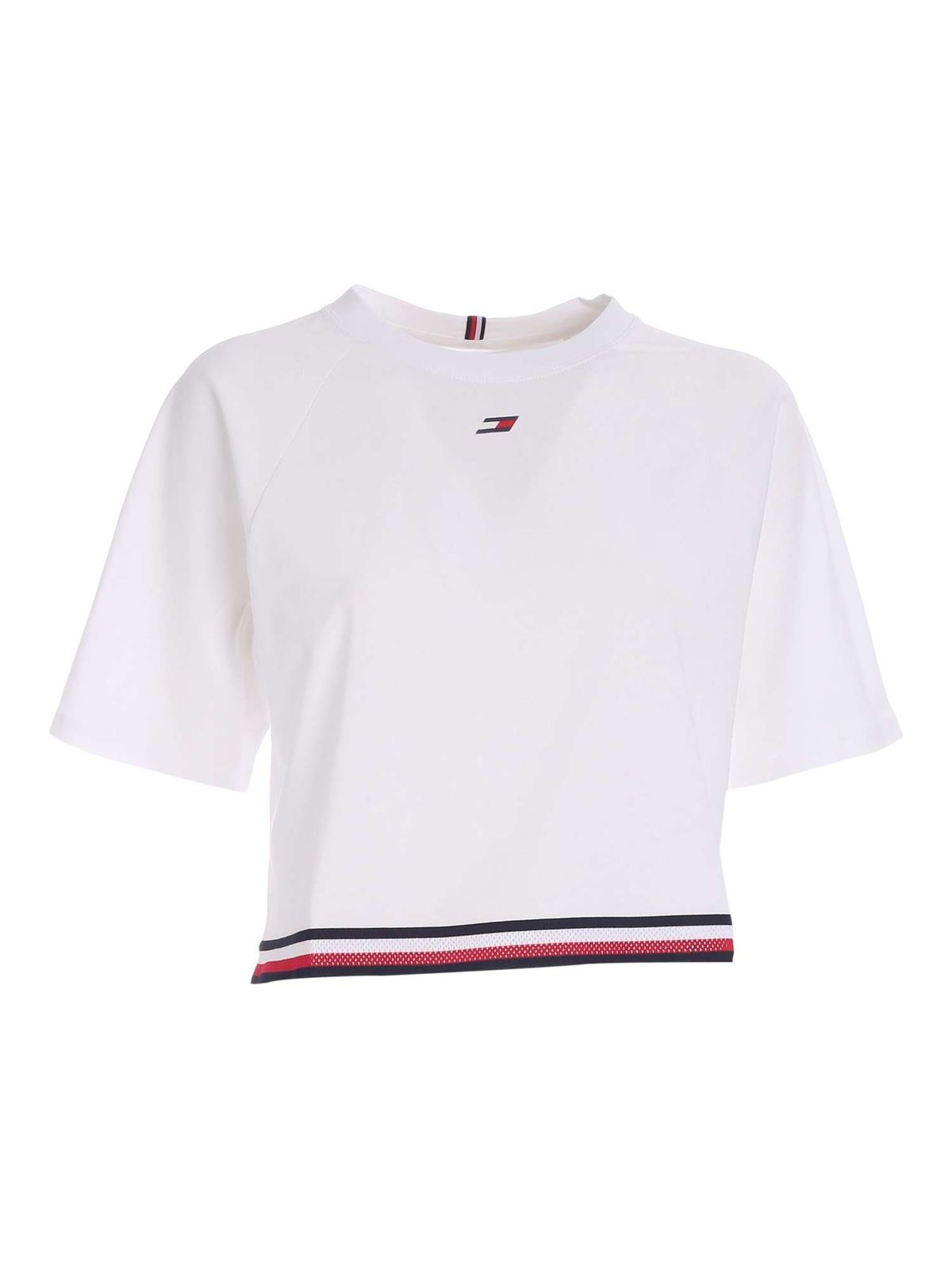 Tommy Hilfiger LOGO SPORTS T-SHIRT IN WHITE