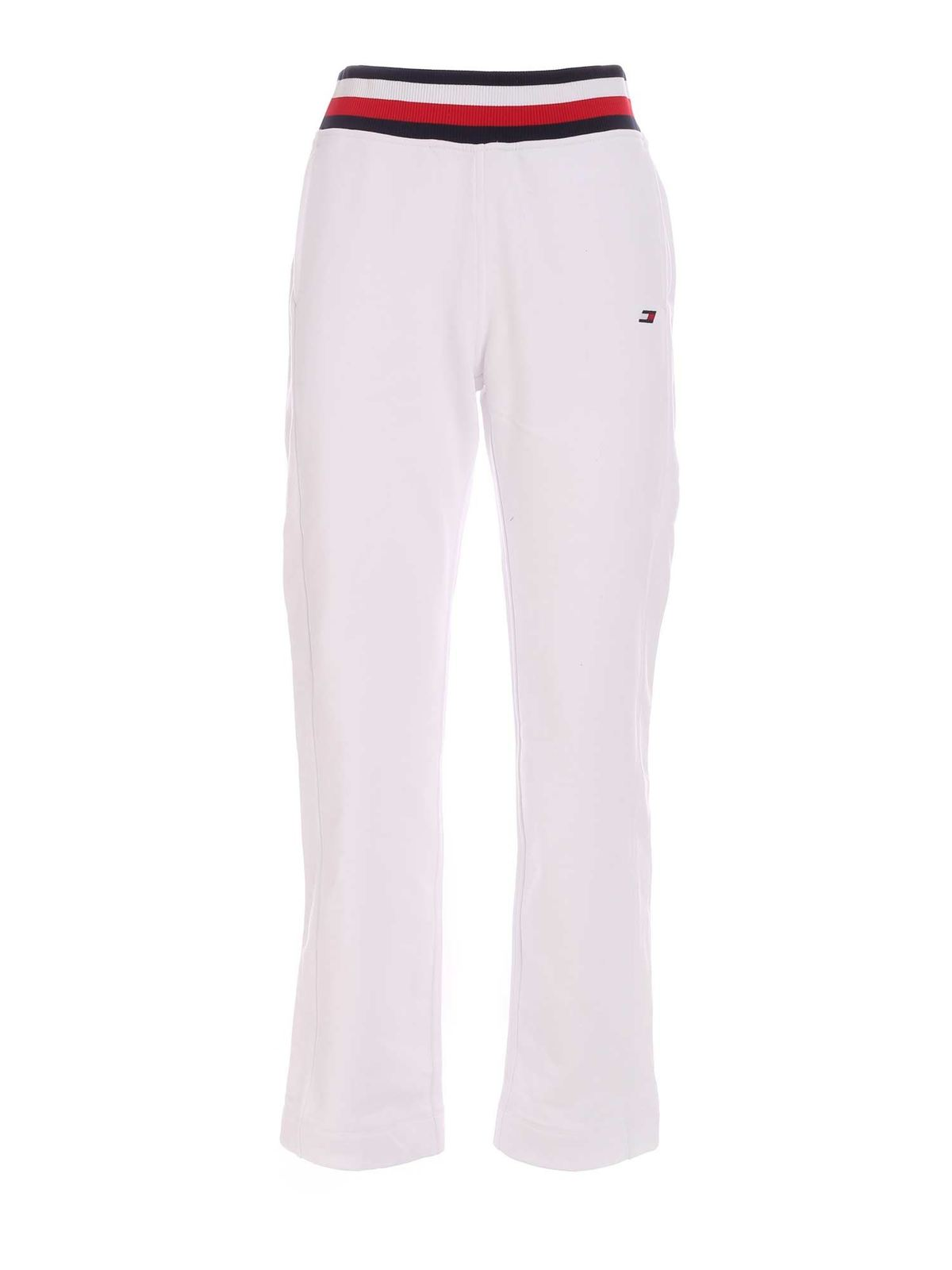 Tommy Hilfiger LOGO DETAIL JOGGERS IN WHITE
