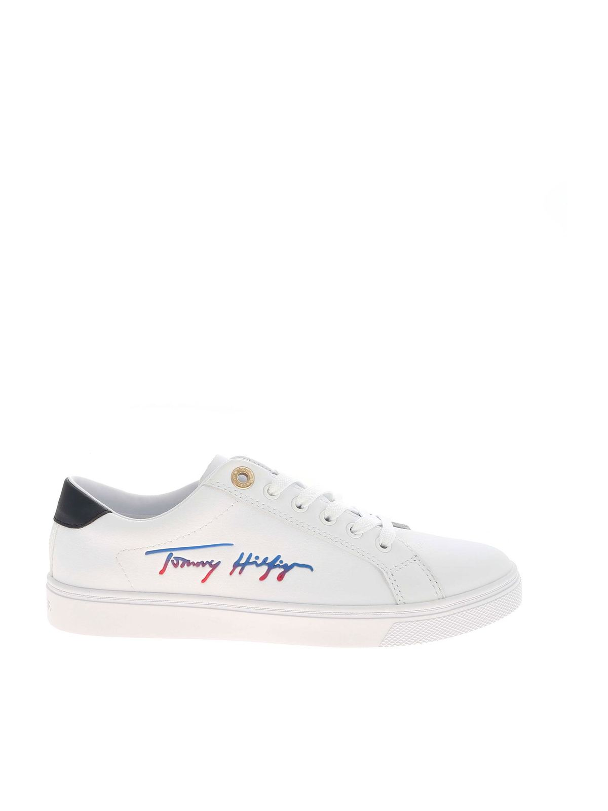 Tommy Hilfiger LOGO SIGNATURE SNEAKERS IN WHITE