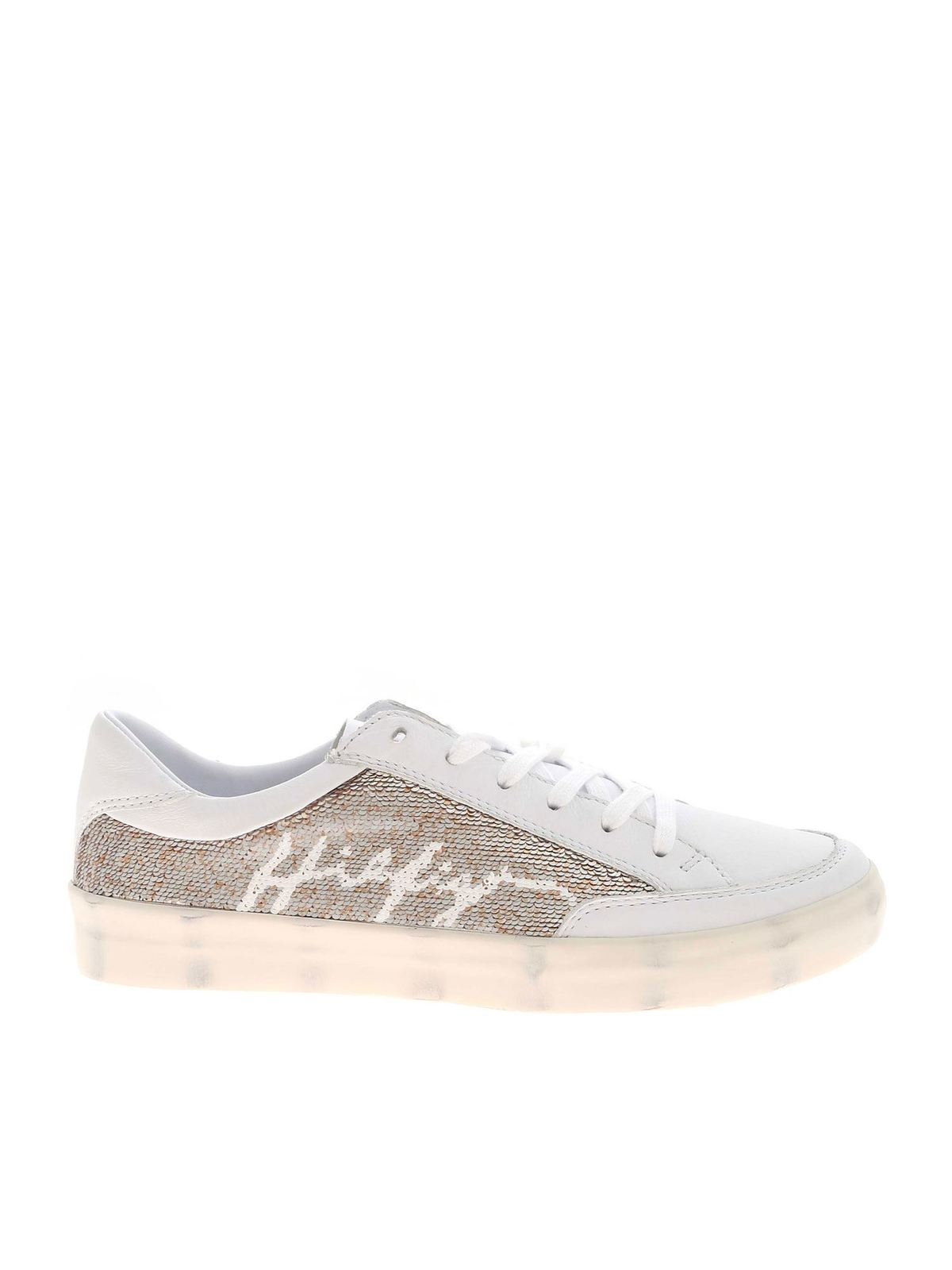 Tommy Hilfiger SEQUIN DETAIL SNEAKERS IN WHITE