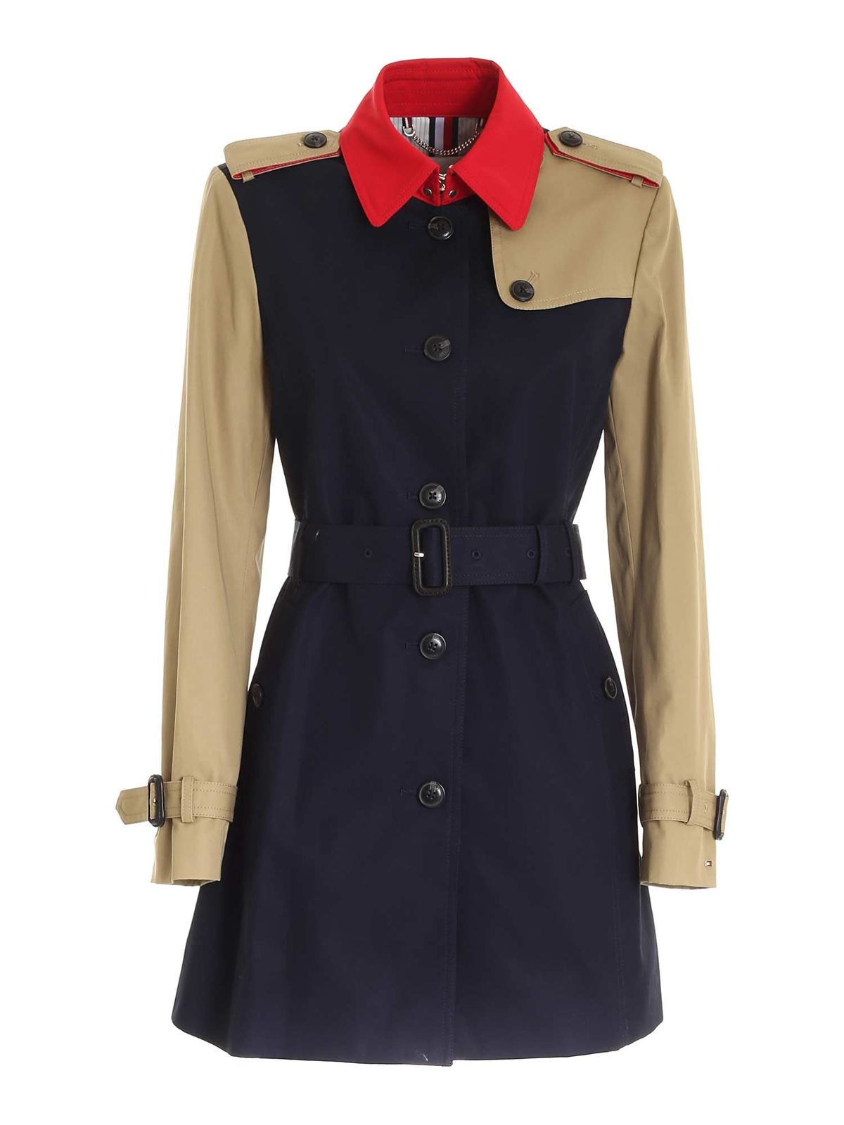 Tommy Hilfiger SB TRENCH COAT IN BLUE AND BEIGE