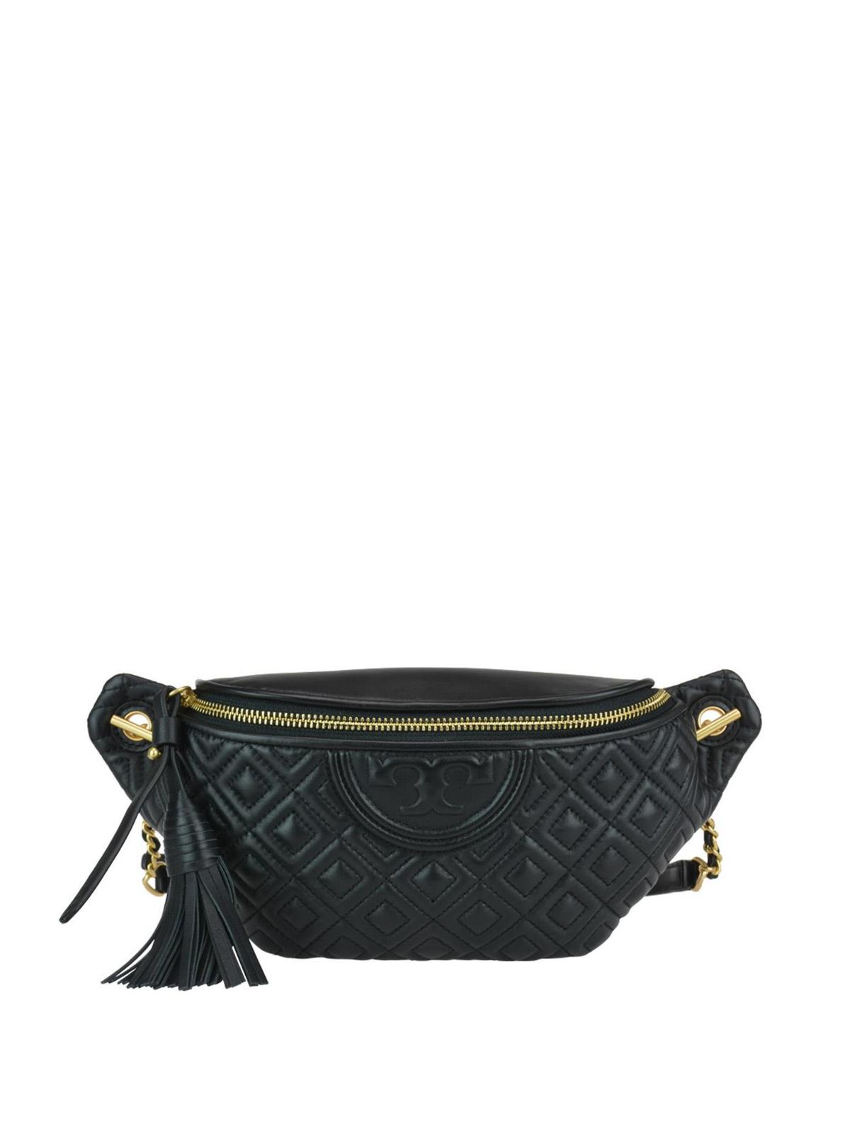 a650b927c8a9 Tory Burch - Fleming leather belt bag - belt bags - 53060 001 ...