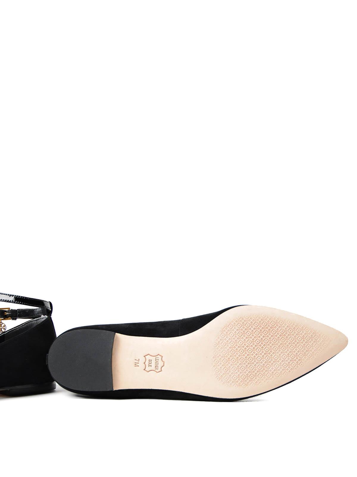 51f0818fa99 Tory Burch - Ashton patent T-strap flat shoes - flat shoes - 42968 009