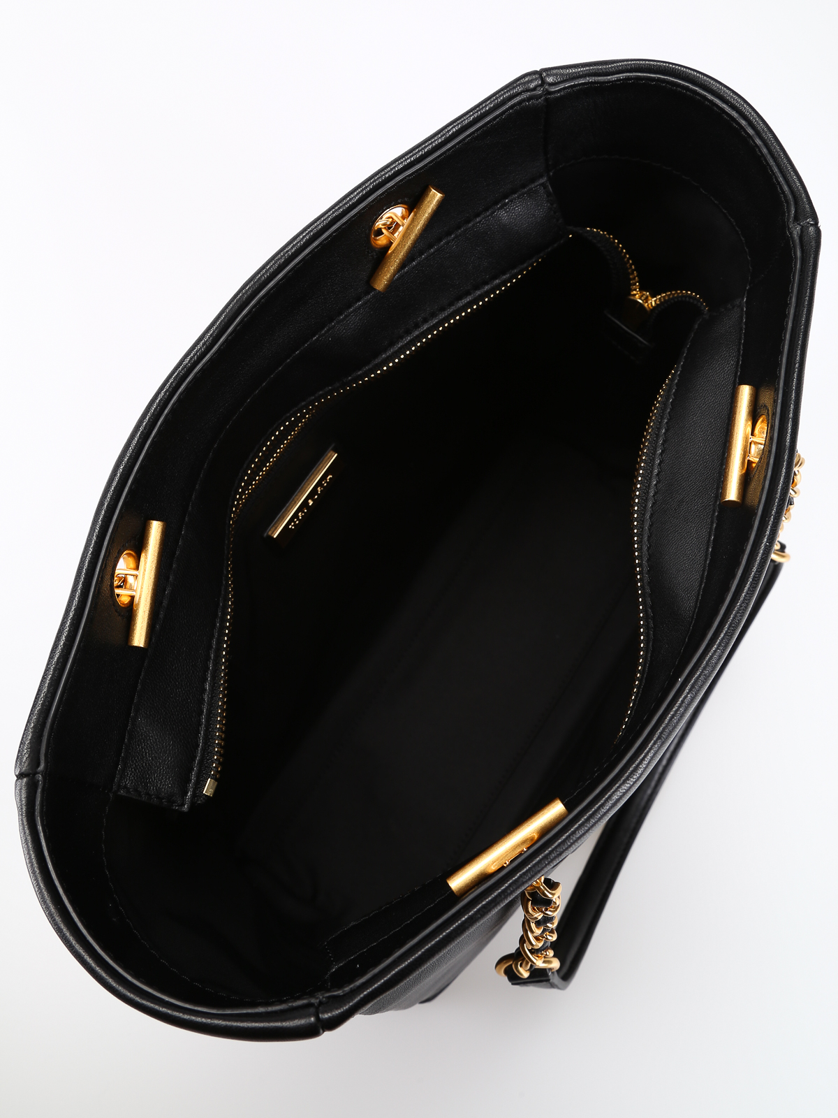230f14fa927 TORY BURCH buy online Fleming golden chain black leather tote bag · TORY  BURCH  totes bags ...