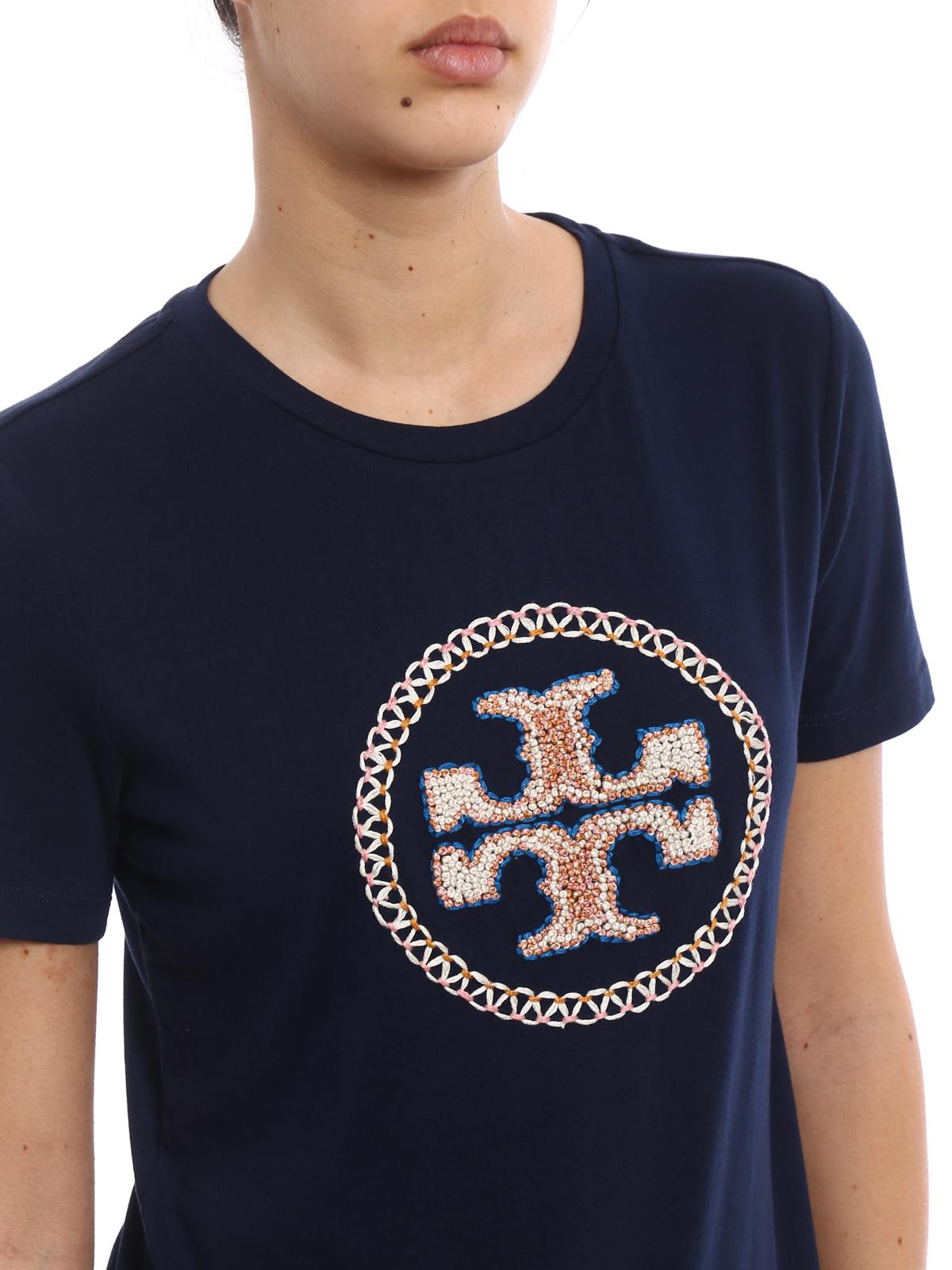 Maya embroidered logo t shirt by tory burch t shirts ikrix tory burch buy online maya embroidered logo t shirt buycottarizona Images