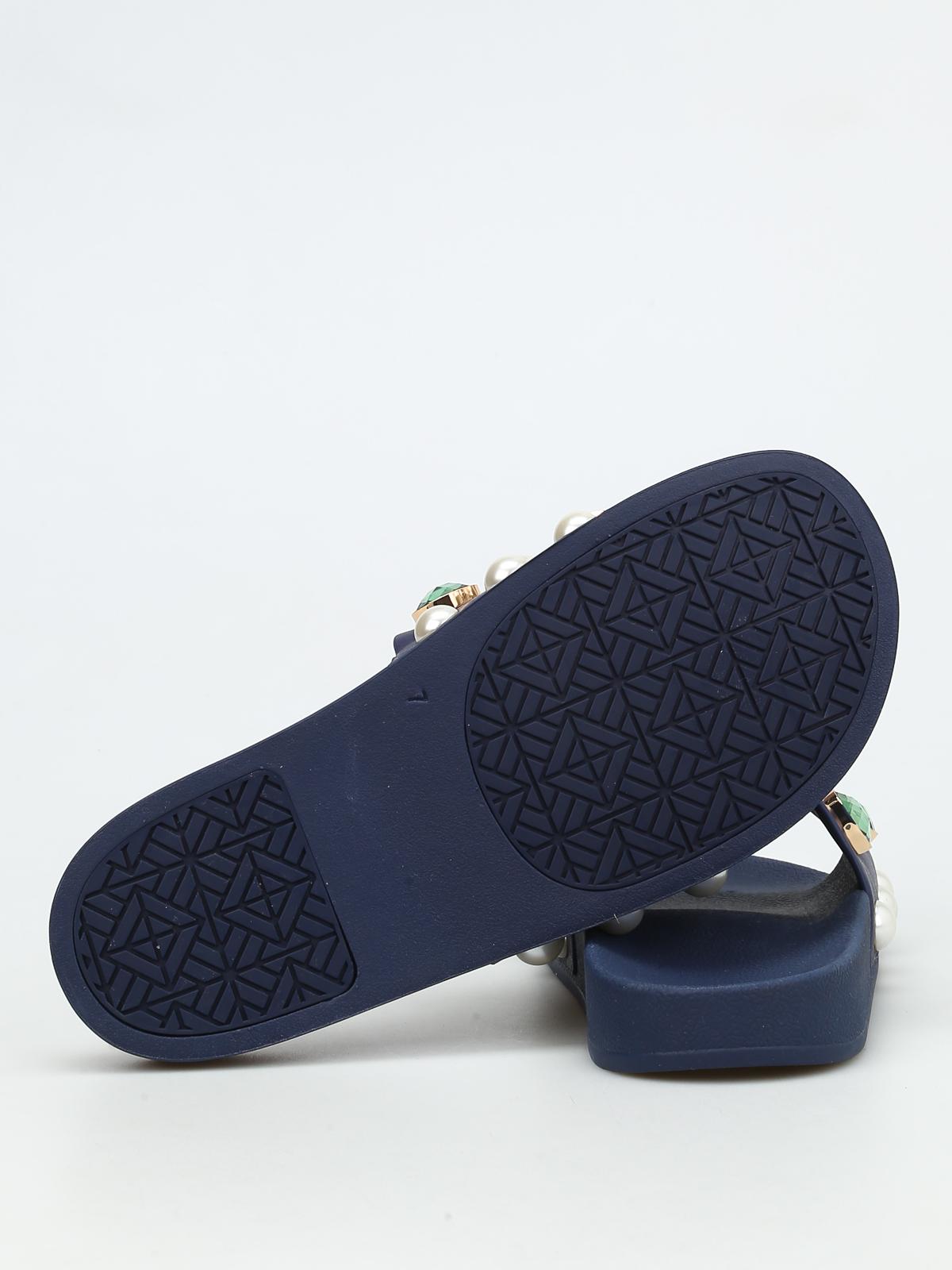 ea2ac89f0555f Tory Burch - Vail rhinestone and bead sliders - sandals - 35939458