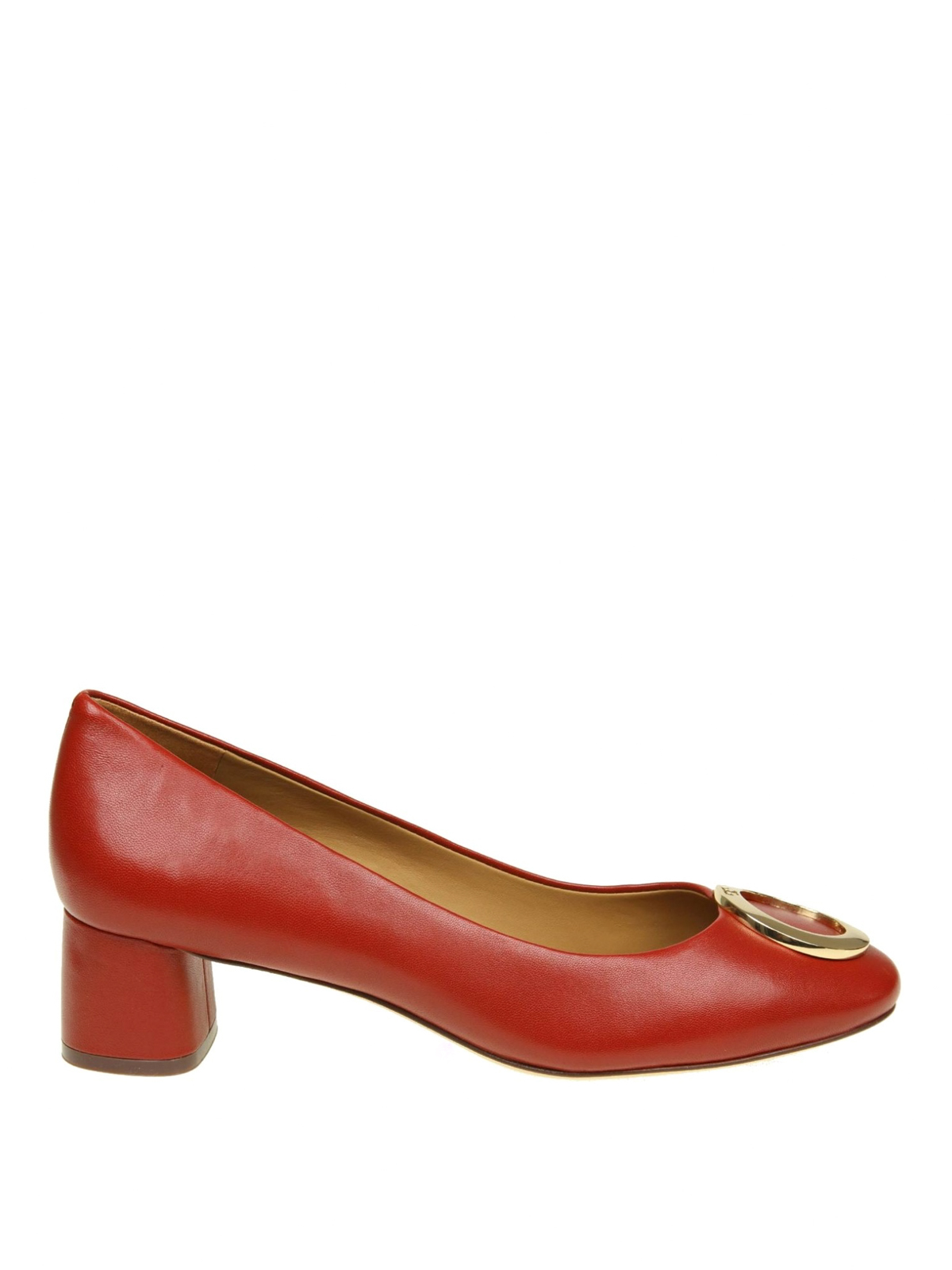 efcae0a7b246 TORY BURCH  court shoes - Caterina metal logo detailed leather pumps
