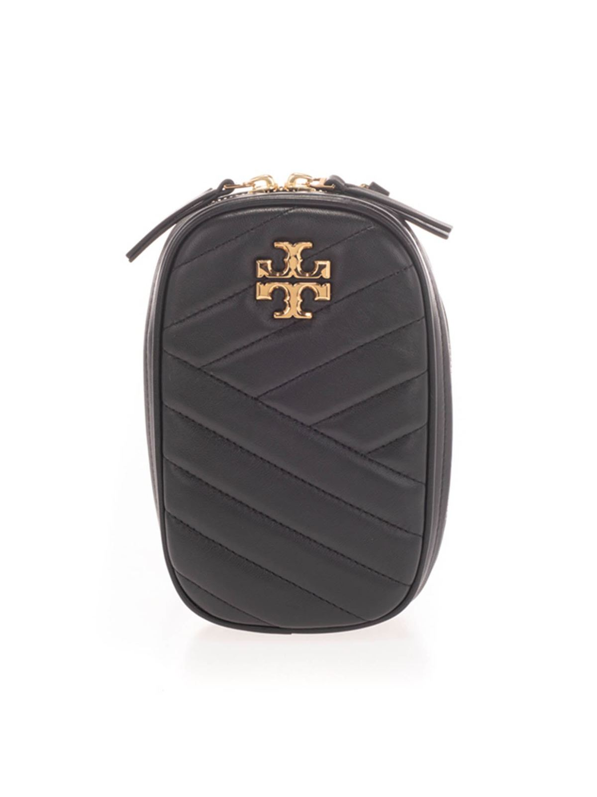Tory Burch QUILTED LEATHER POUCH IN BLACK