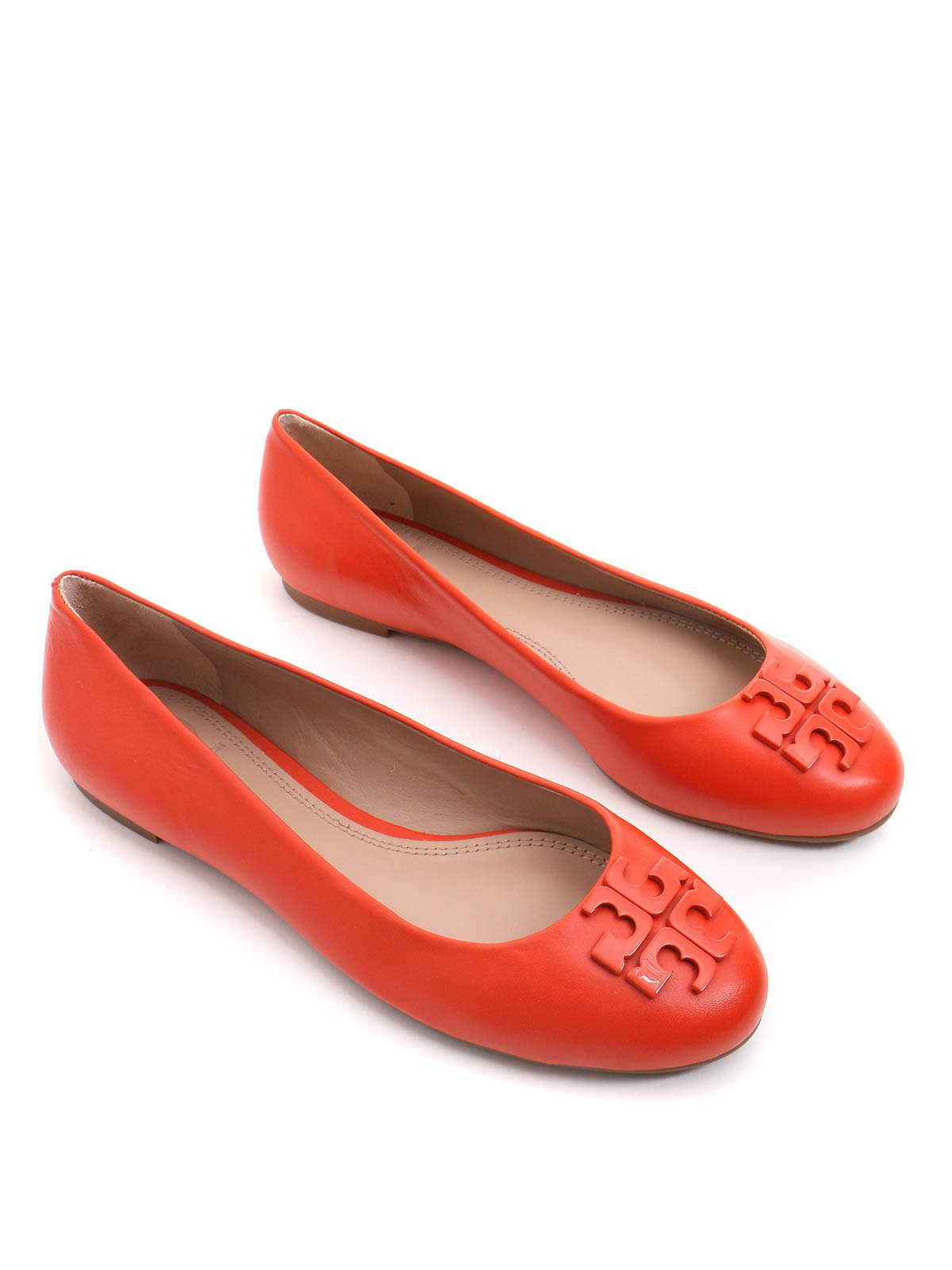 Tory Burch: flat shoes - Leather ballet flats