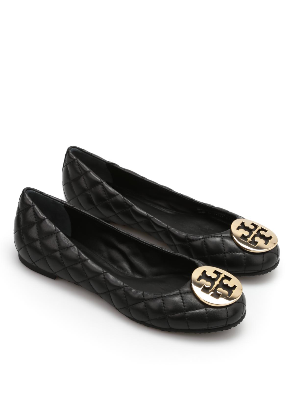 83ce1a37769 Tory Burch - Leather Quinn flats - flat shoes - 50008602 051
