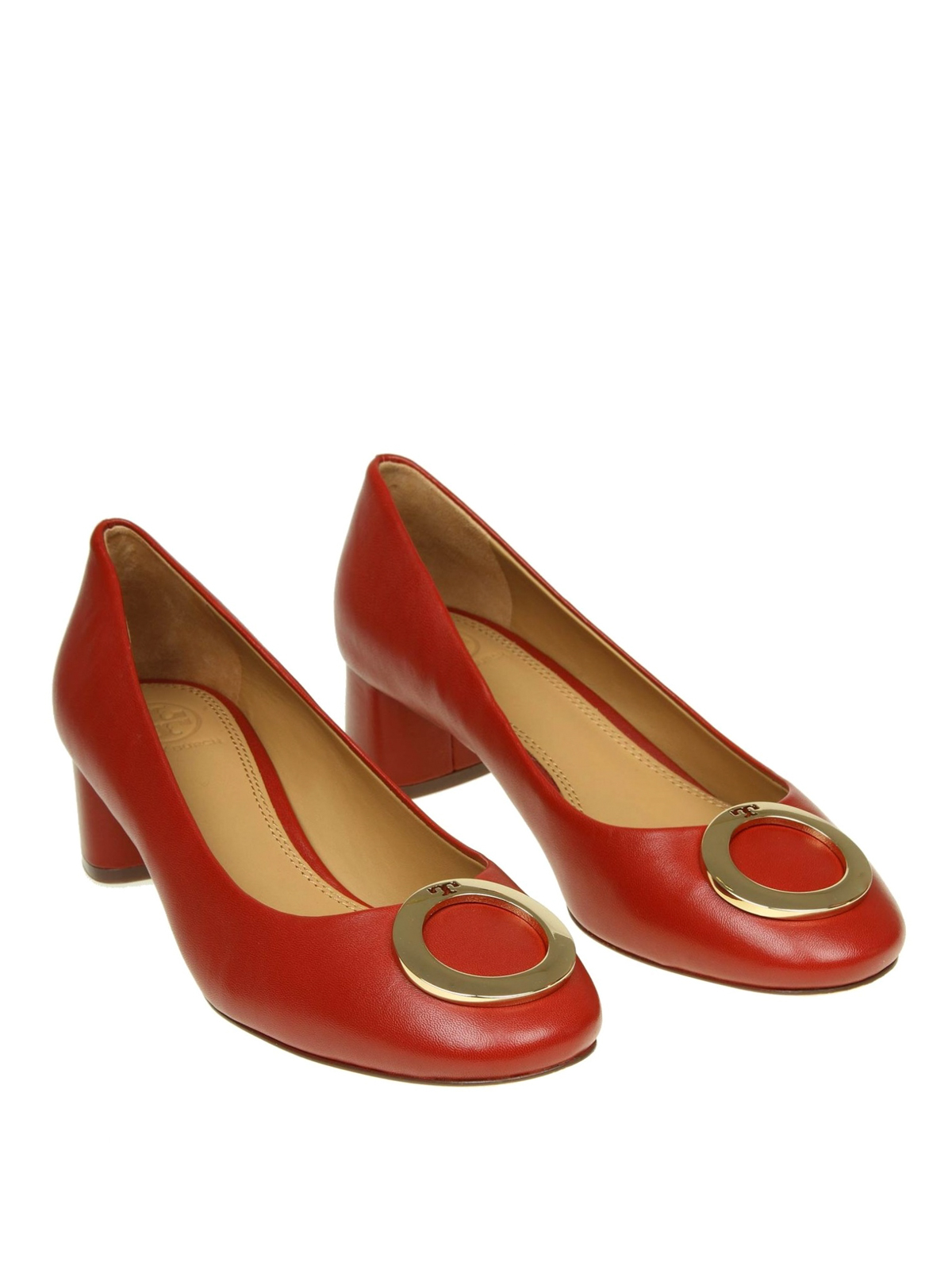accc92b3ebf5 TORY BURCH  court shoes online - Caterina metal logo detailed leather pumps