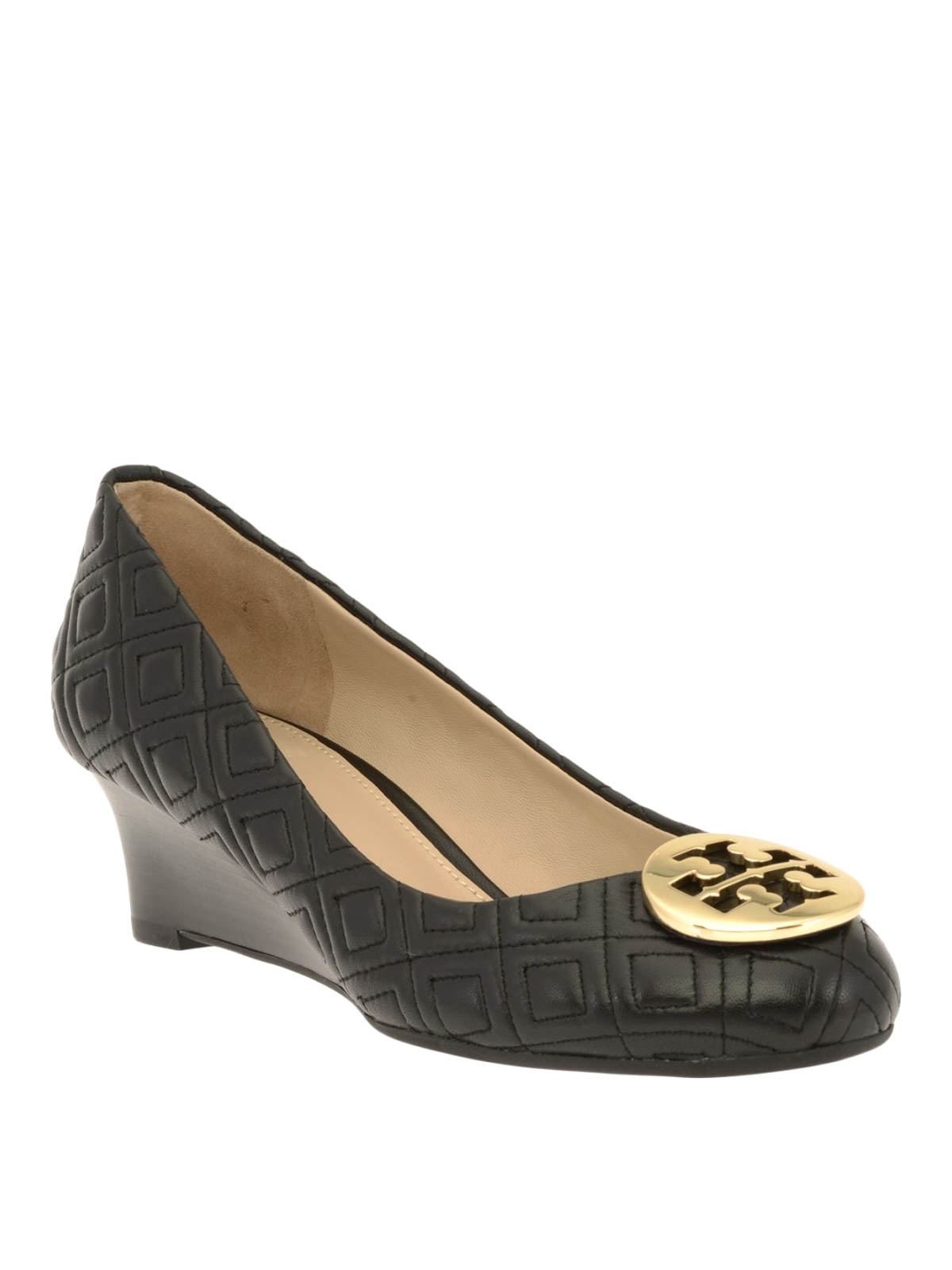 4a9f6787a0ac6 Tory Burch - Luna embossed leather wedge pumps - court shoes - 32895 001