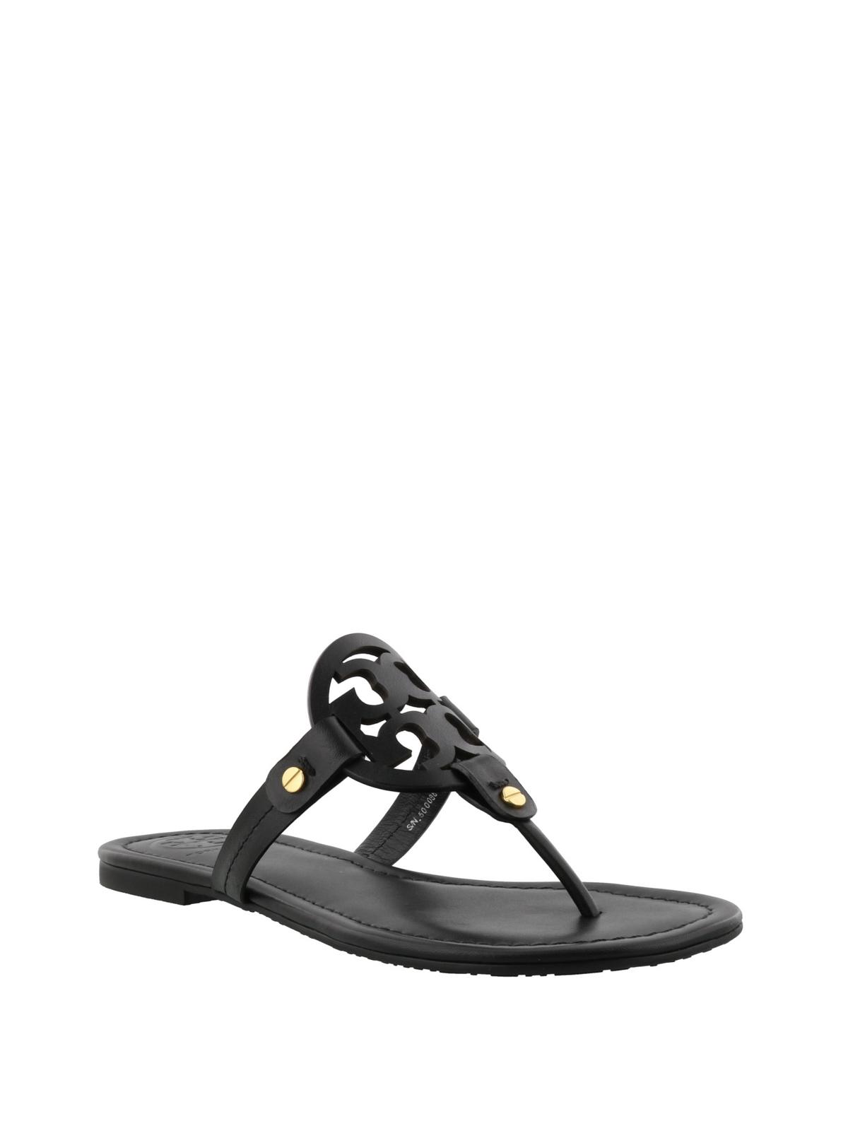 b7e93d49415f TORY BURCH  flip flops online - Miller black leather thong sandals