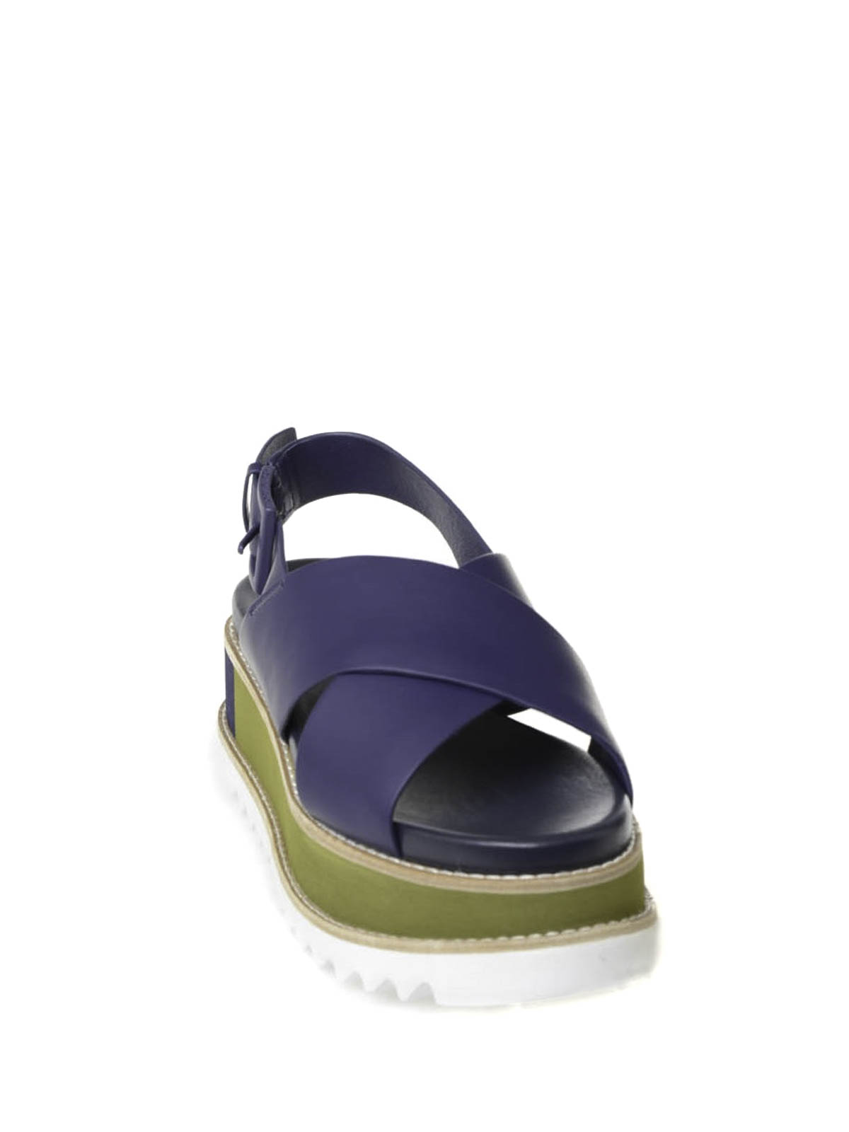 7c0cef145 Tory Burch - Gloriette platform leather sandal - sandals - 52158211 412