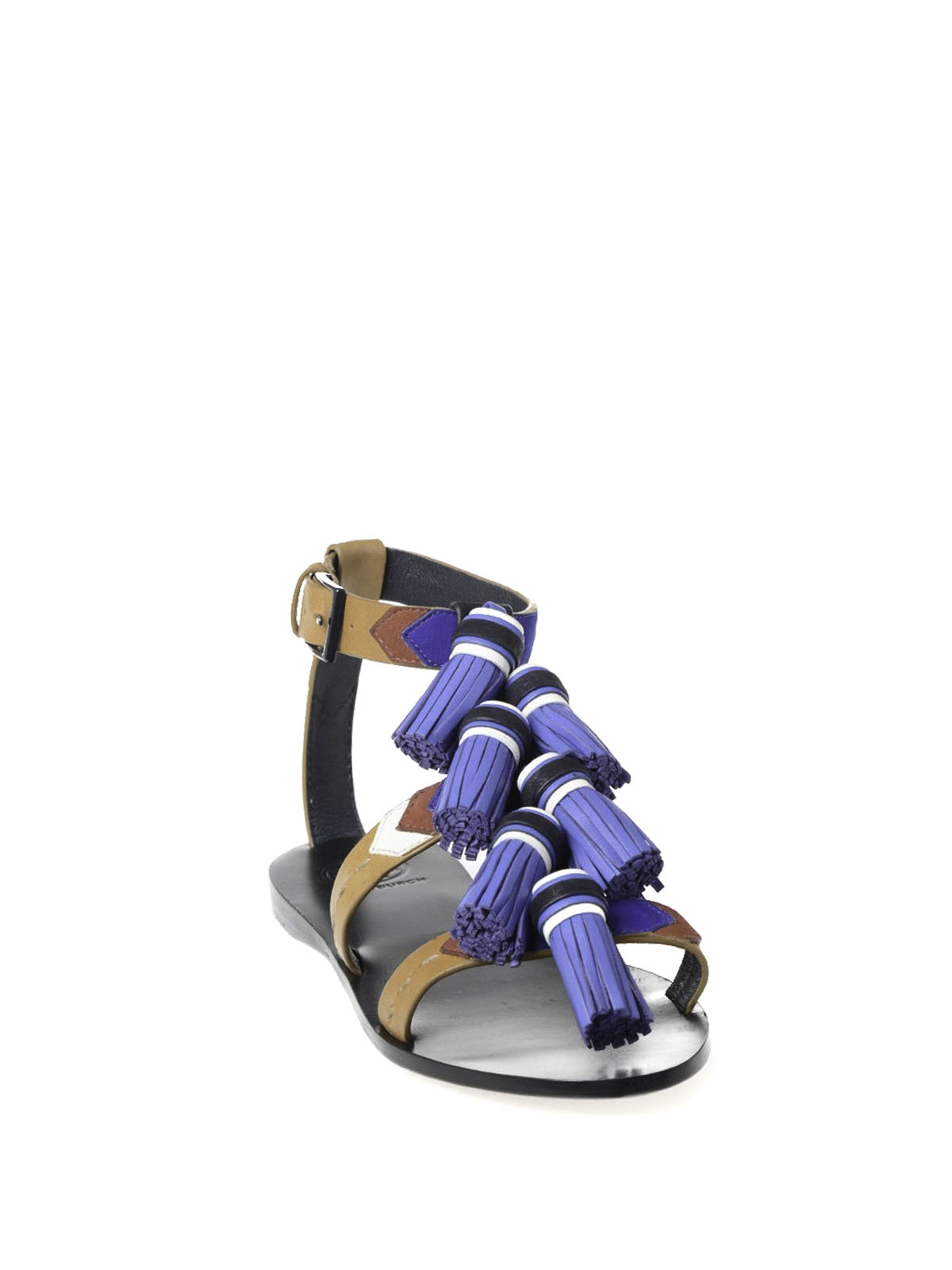 0efb4f73fb16 Tory Burch - Weaver flat sandals with tassels - sandals - 51158685 484