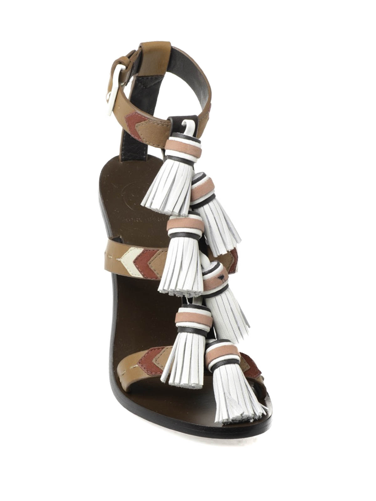 a4bff341f9f4ea Tory Burch - Weaver high sandals with tassels - sandals - 51158683 242