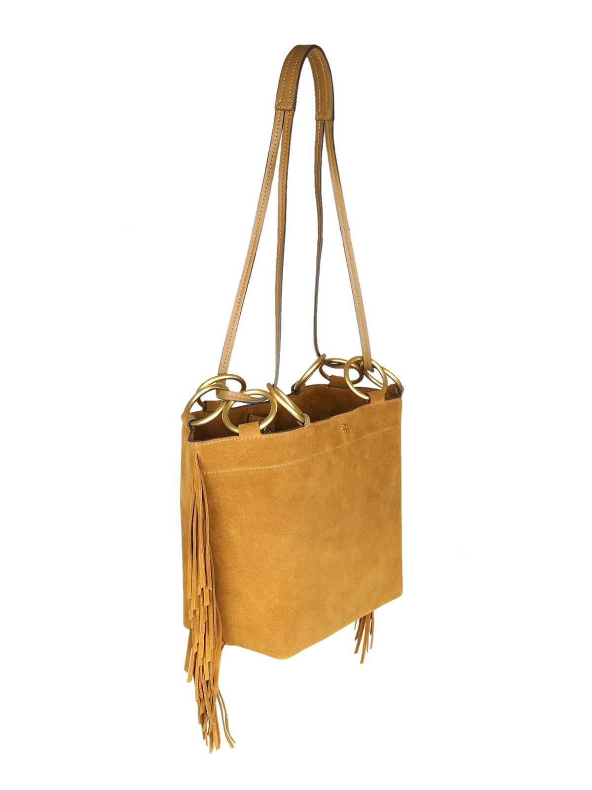 07ed16ff96f Tory Burch - Farrah Fringe small suede bag - shoulder bags - 49244223