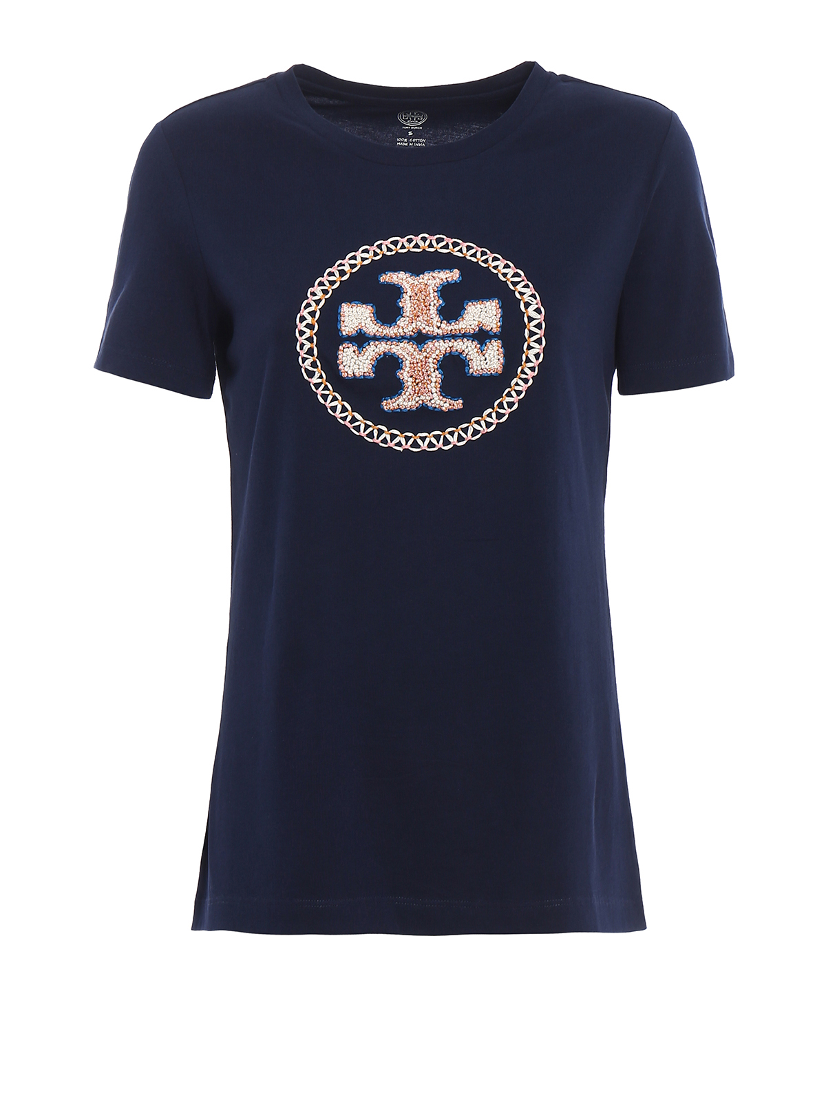Maya embroidered logo t shirt by tory burch t shirts ikrix for T shirt with embroidered logo