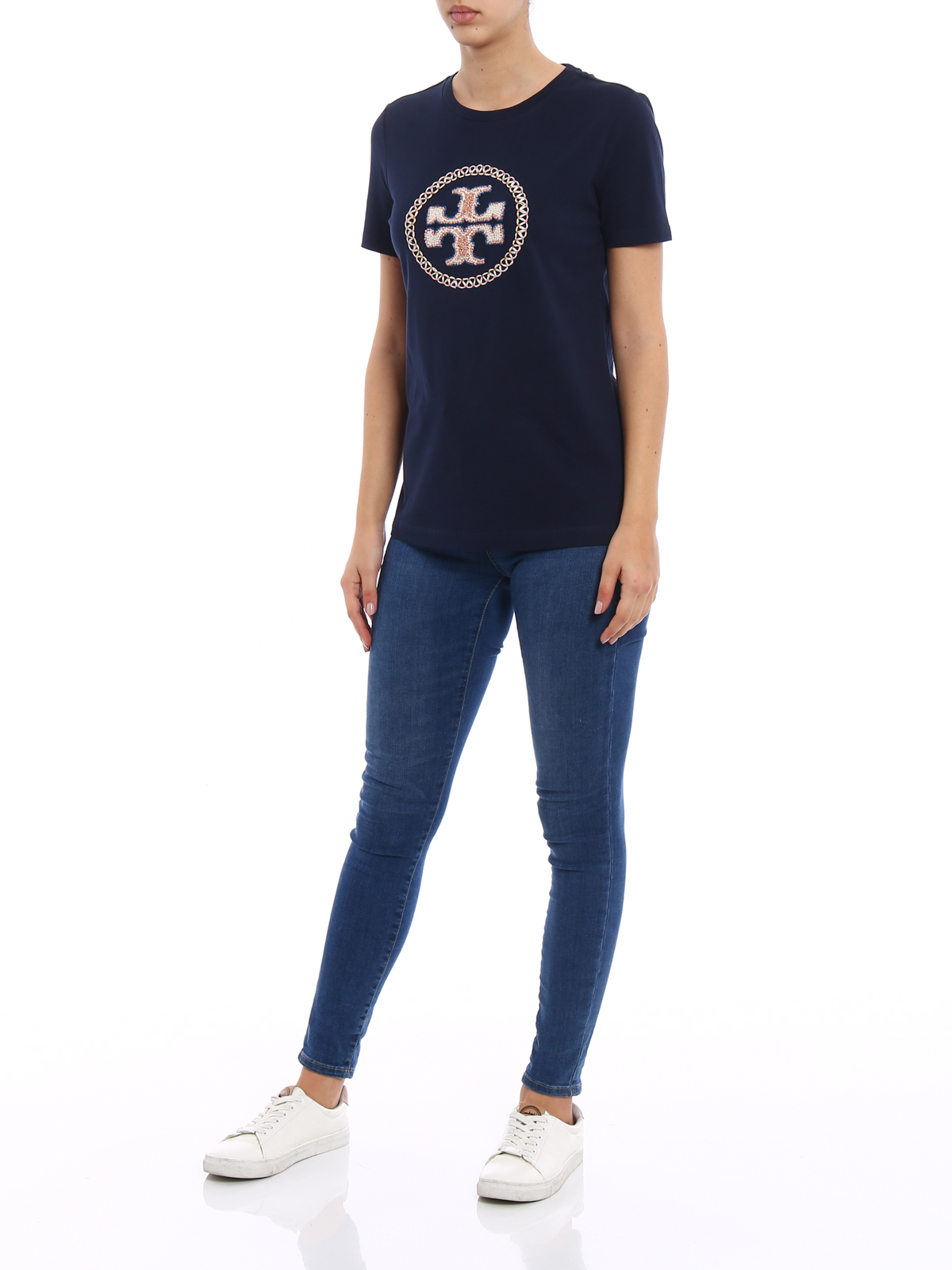 Maya embroidered logo t shirt by tory burch t shirts ikrix tory burch t shirts online maya embroidered logo t shirt buycottarizona Images
