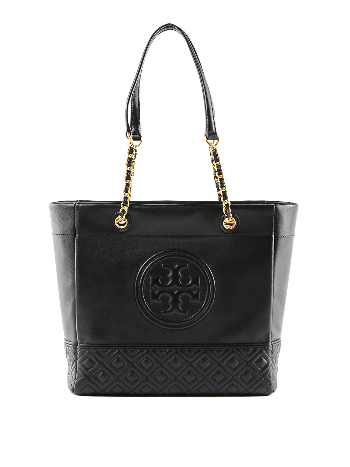 4ee2ed70431 Tory Burch - Fleming golden chain leather tote bag - totes bags ...