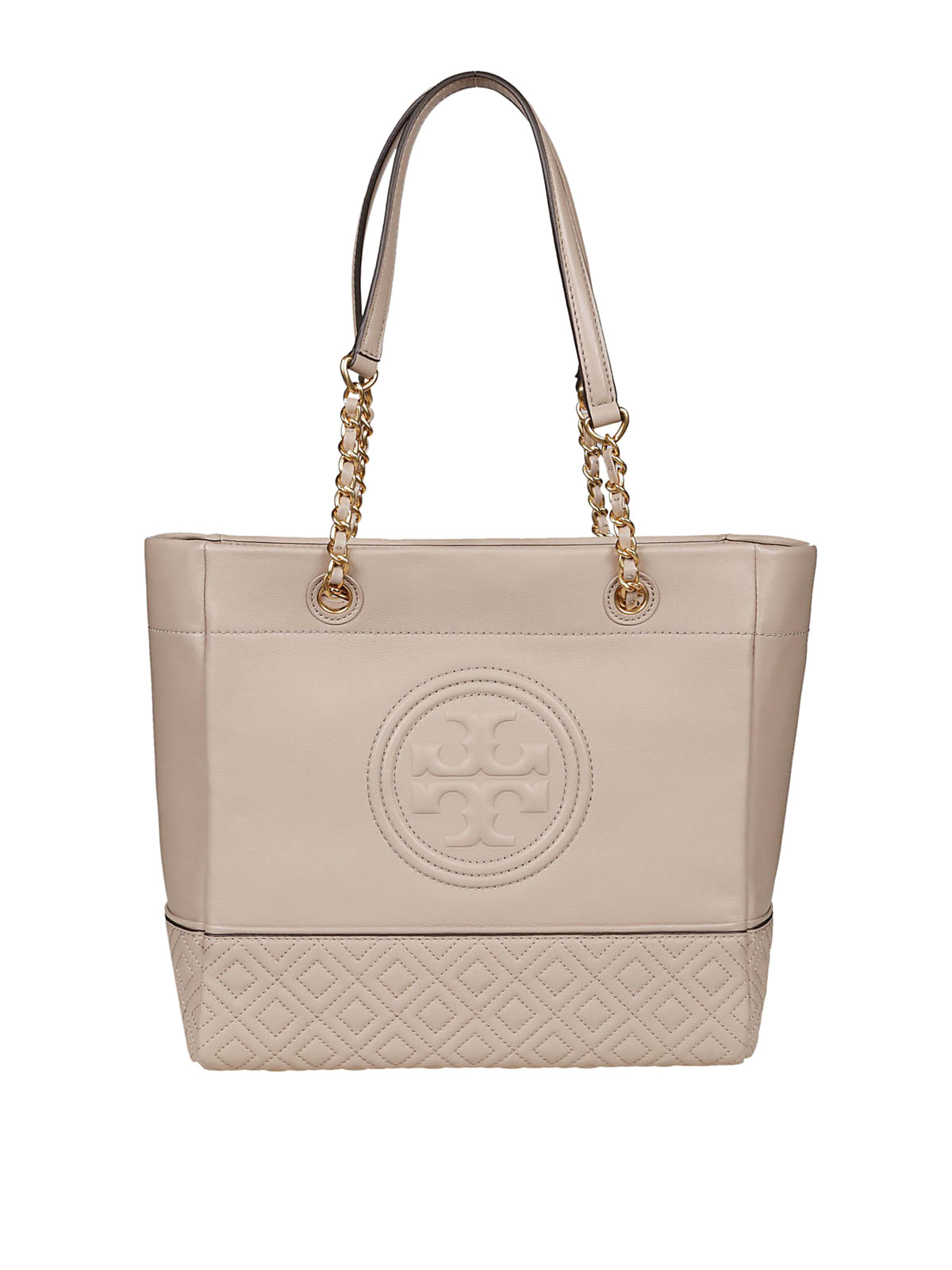 262fc6916d4 Tory Burch - Fleming light taupe leather tote bag - totes bags ...