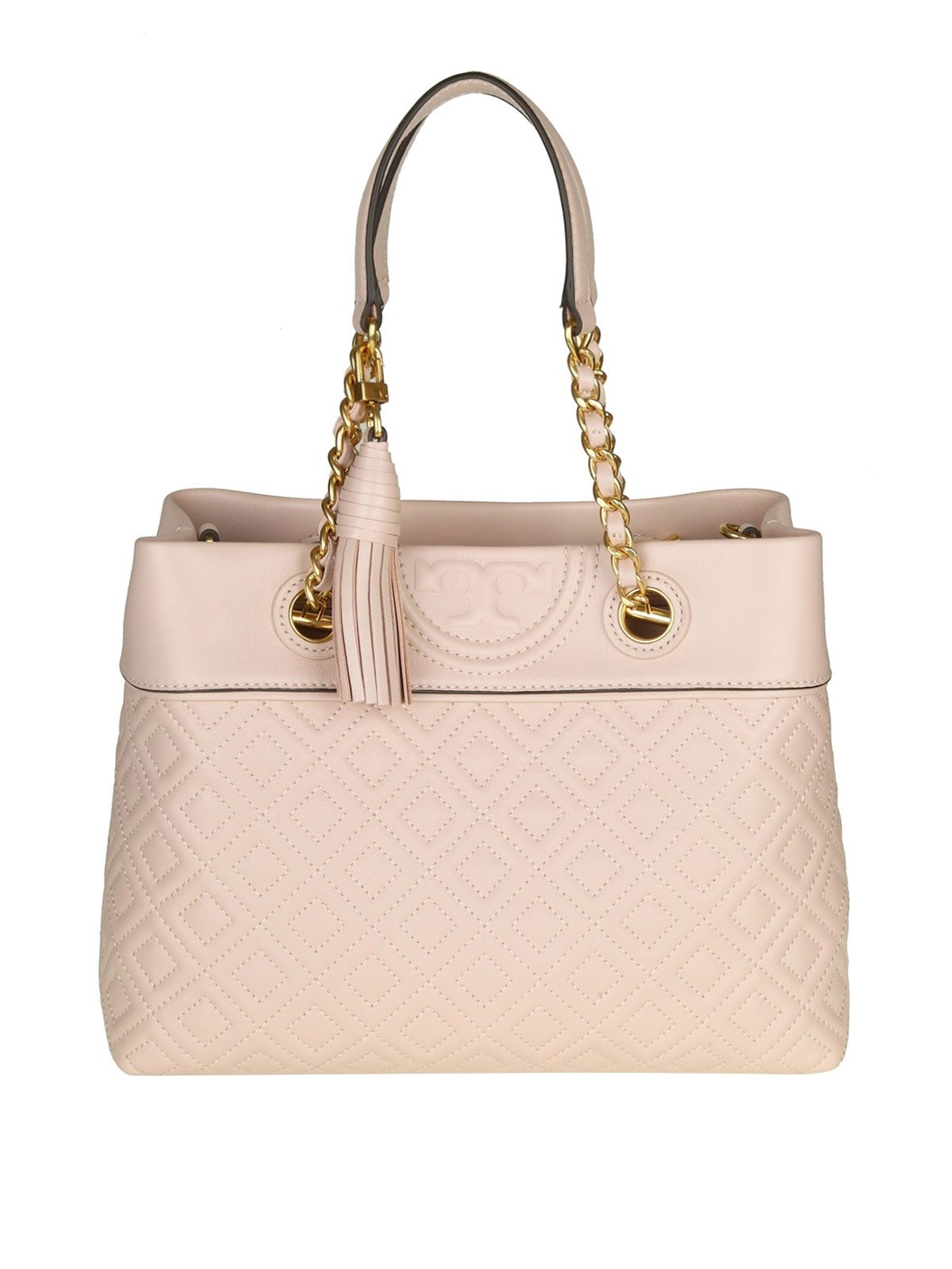 0f798011127f Tory Burch - Fleming small tassel detail leather Tote - totes bags ...