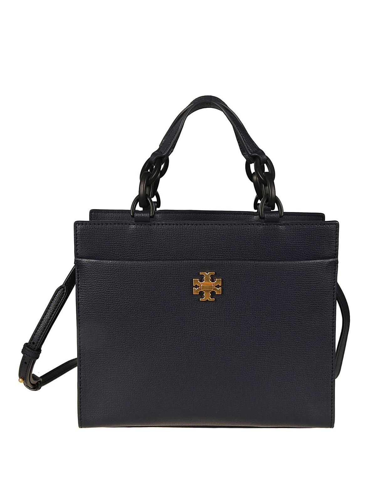 Tory Burch Kira royal navy leather small tote Bd1PAJ