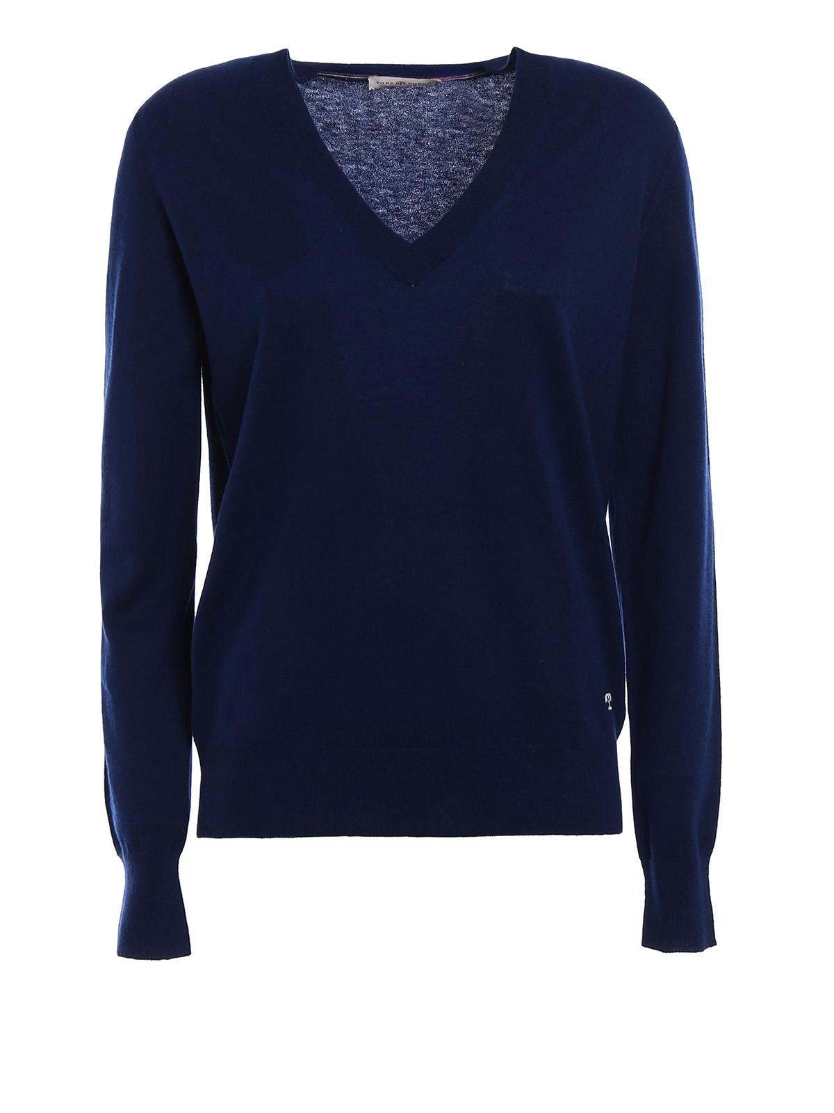 c7ae9fe752a Tory Burch - Marilyn cashmere sweater - v necks - 407240817 403