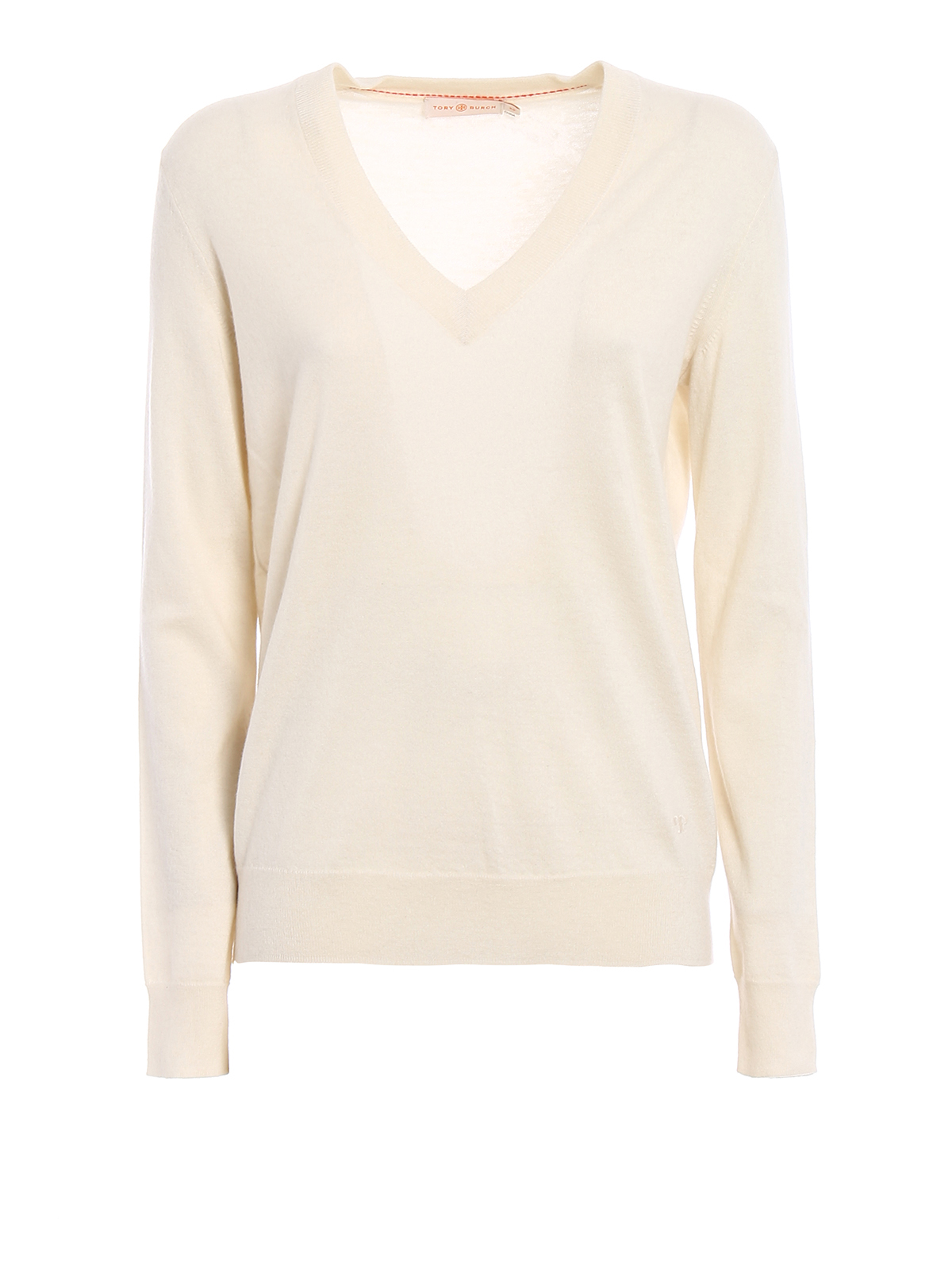 a23de4b2bed Tory Burch - Marilyn ivory cashmere sweater - v necks - 40724104